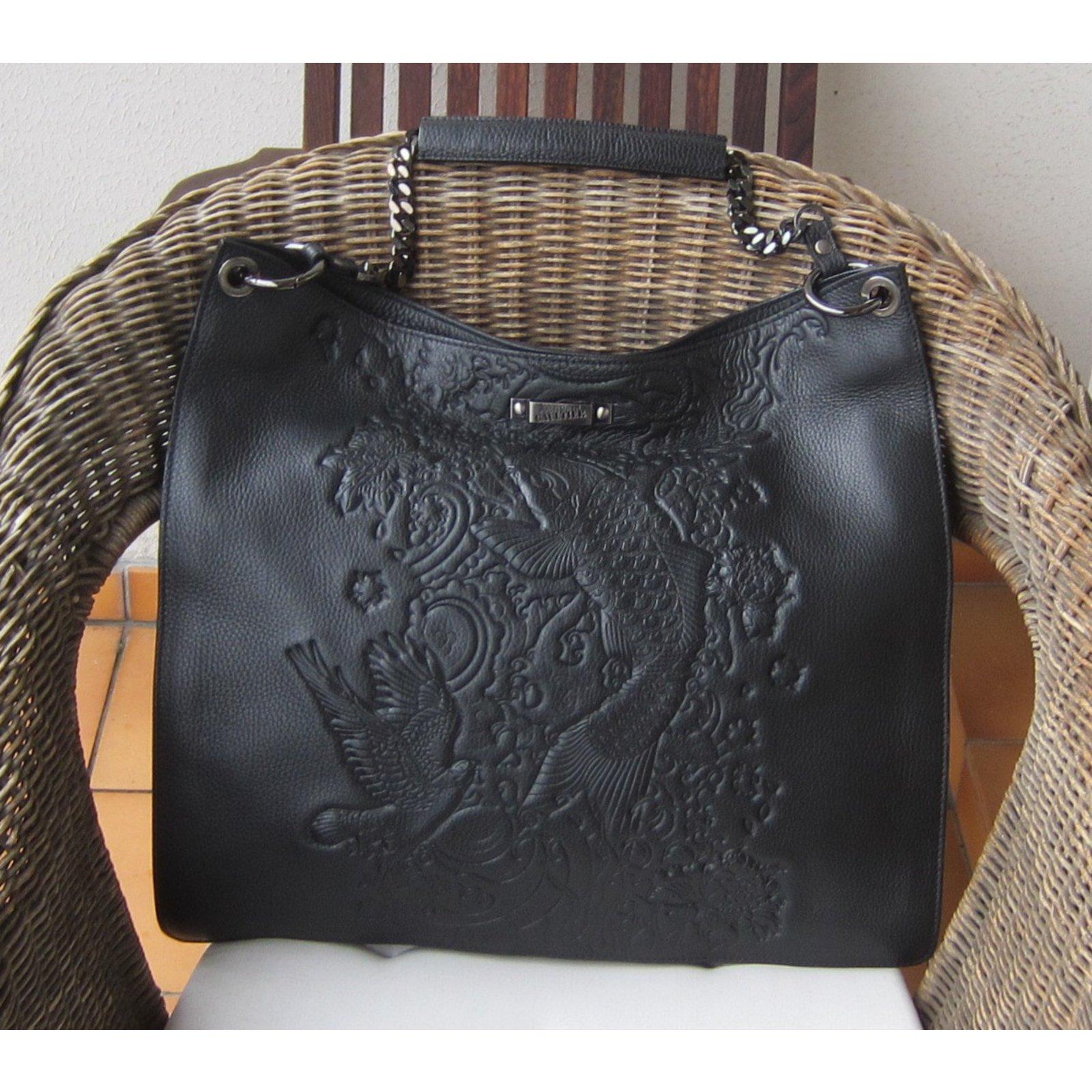 39f6b0074f Jean Paul Gaultier Handbags Handbags Leather Black ref.51631 - Joli Closet