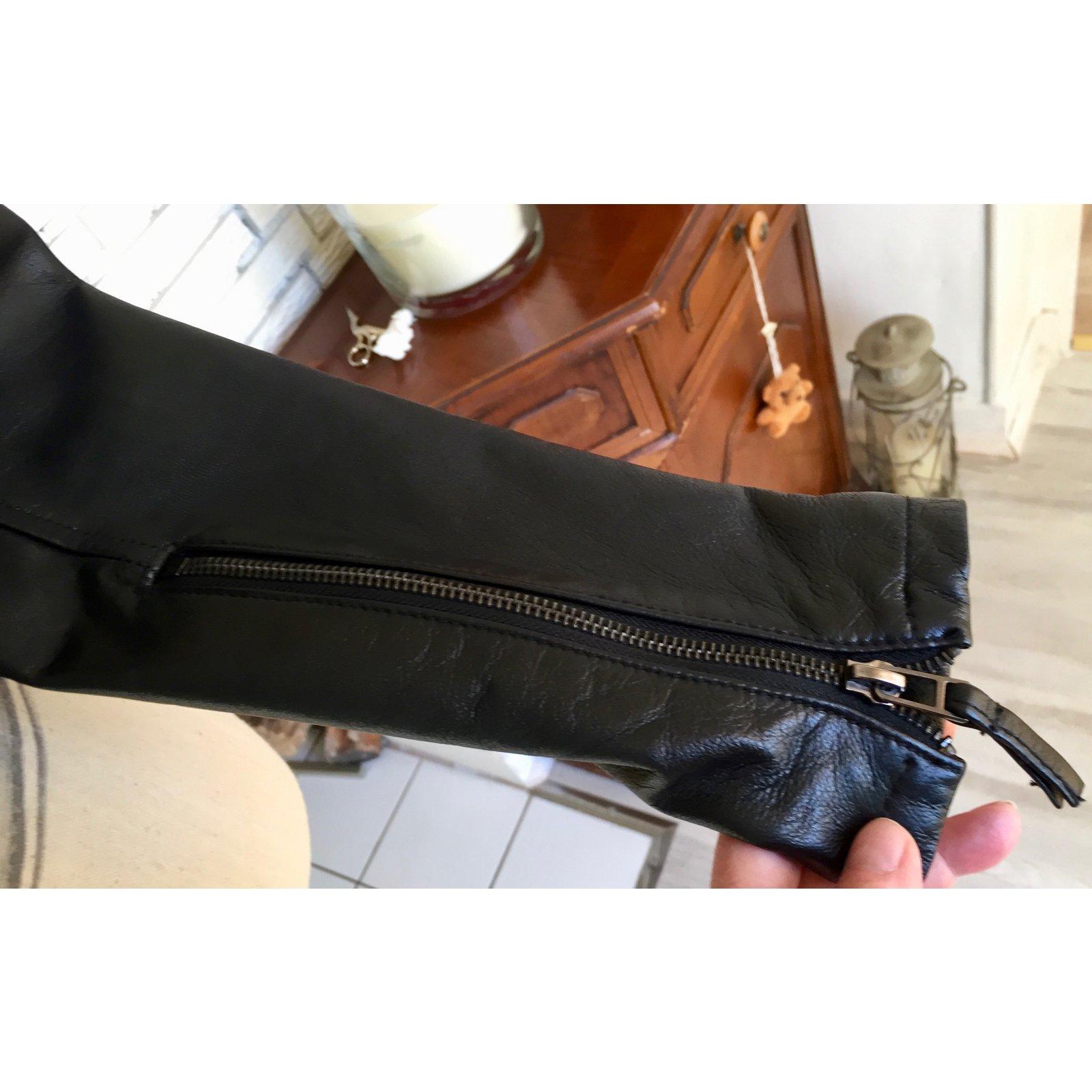 Ref Joli Autre Vestes 51638 Marque Noir Zara Cuir Closet Veste gqZxR6A