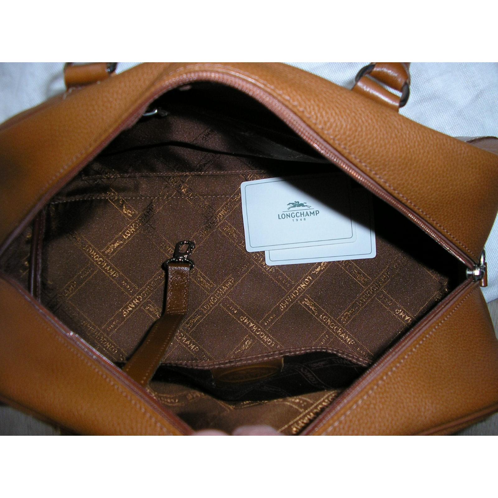 Borse Bowling Ref Caramel Longchamp Borsa Caramello Leather wwgq8r