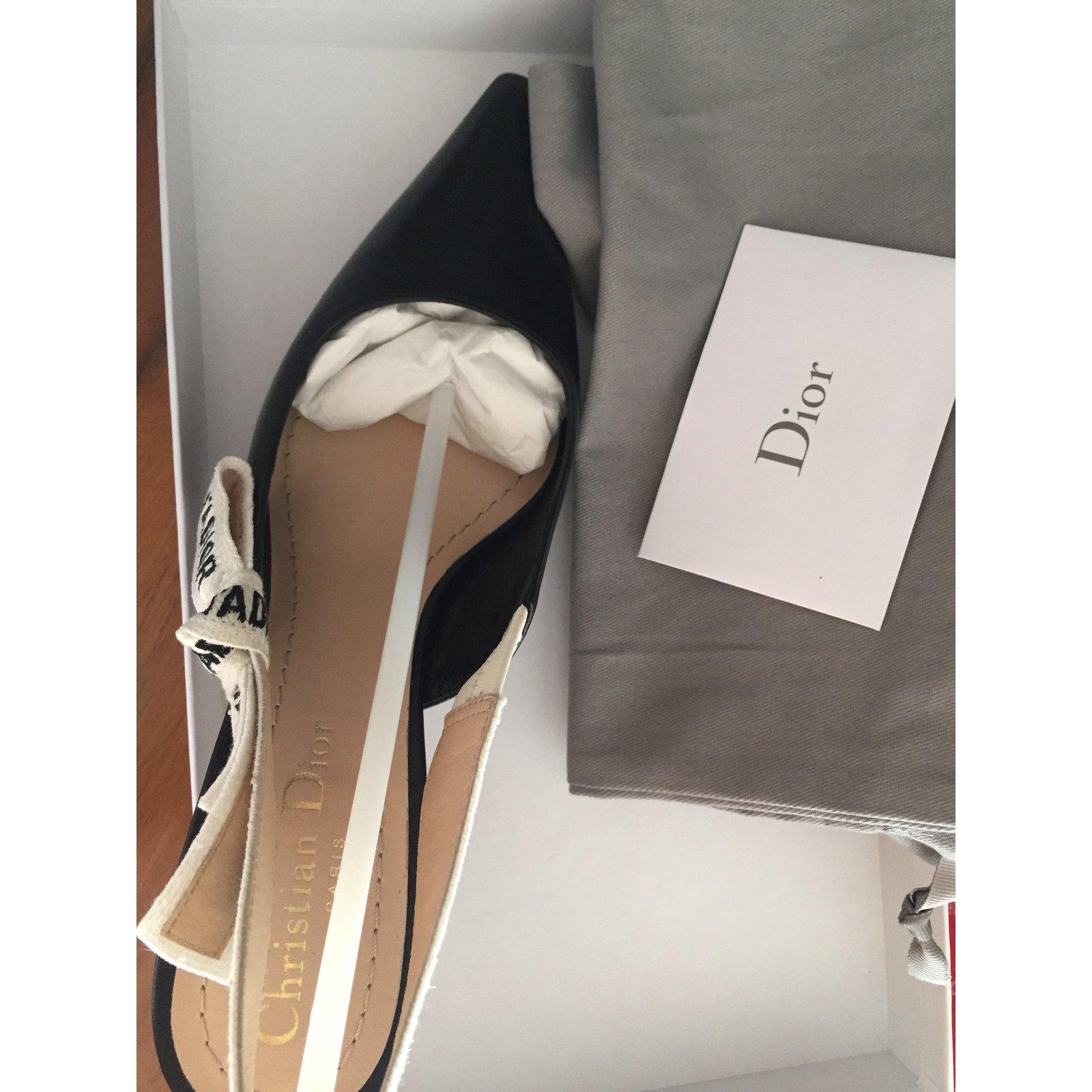 a34fd40bca9 Dior Jadior kitten heel Heels Leather Black ref.52331 - Joli Closet