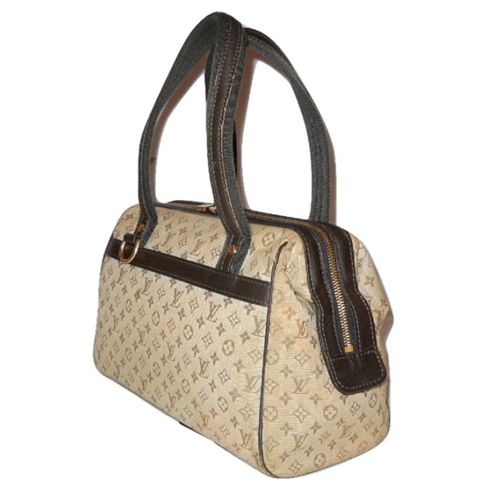 38dd20fe4 Louis Vuitton monograma do vintage Josephine PM mini Bolsas Couro,Lona  Marrom,Bege ref.52348 - Joli Closet