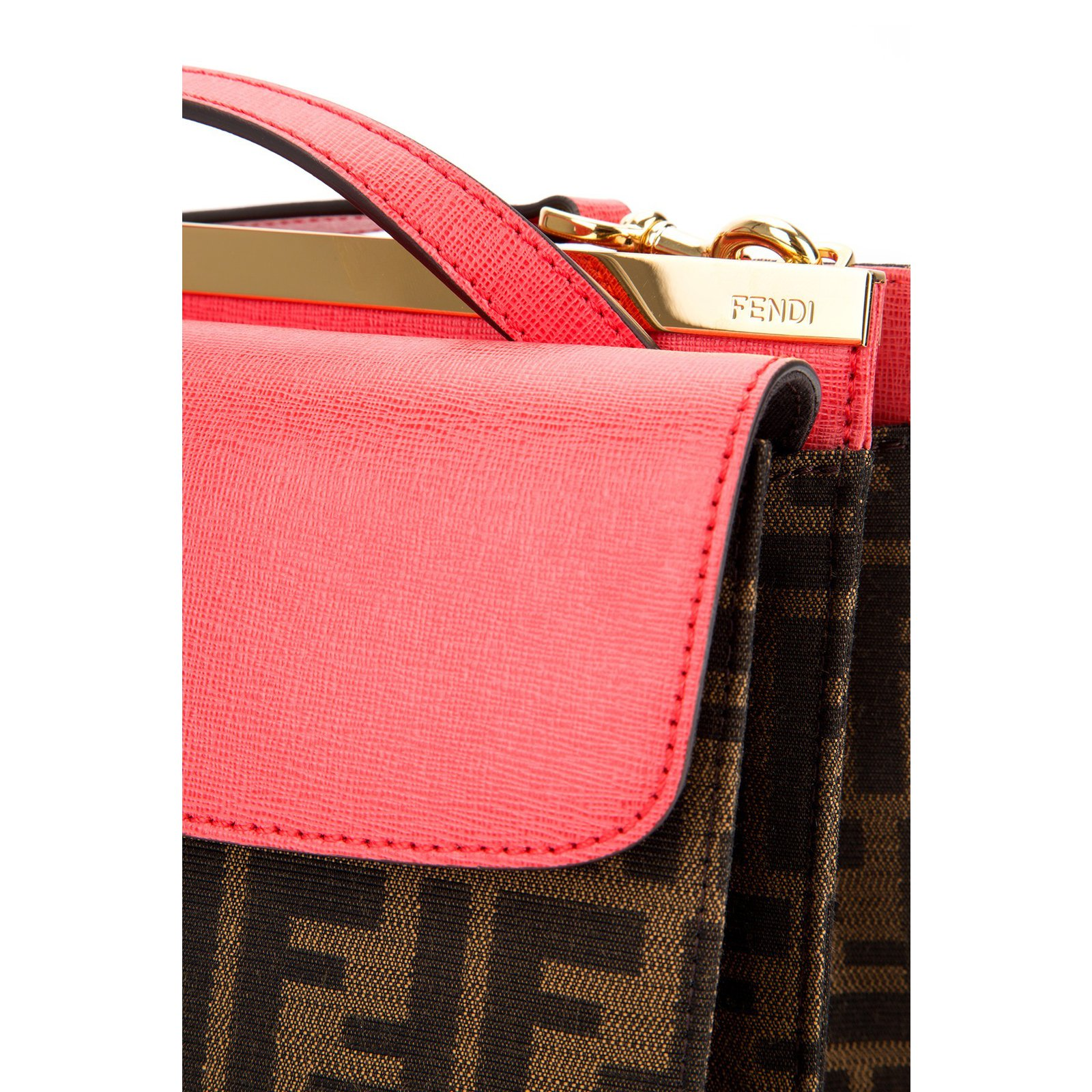 92729b863d8b Fendi Fendi handbag Demi jour zucca Handbags Leather Brown