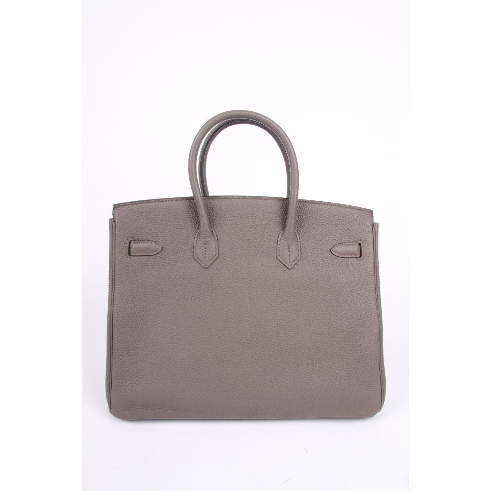 03bc35ad954 Hermès Birkin Togo 35 Etain Palladium Hardware - taupe Handbags ...