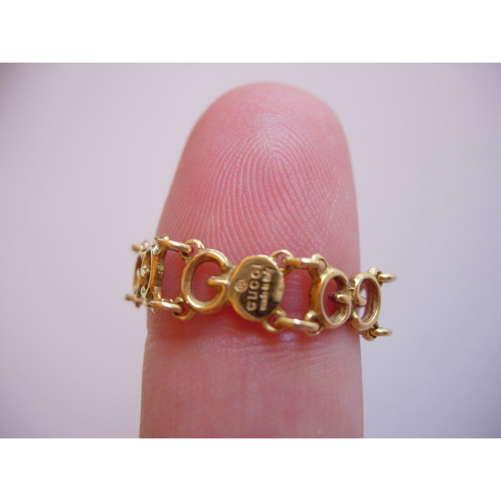829a6725011d57 Gucci GG Ring Rings Yellow gold Golden ref.52923 - Joli Closet