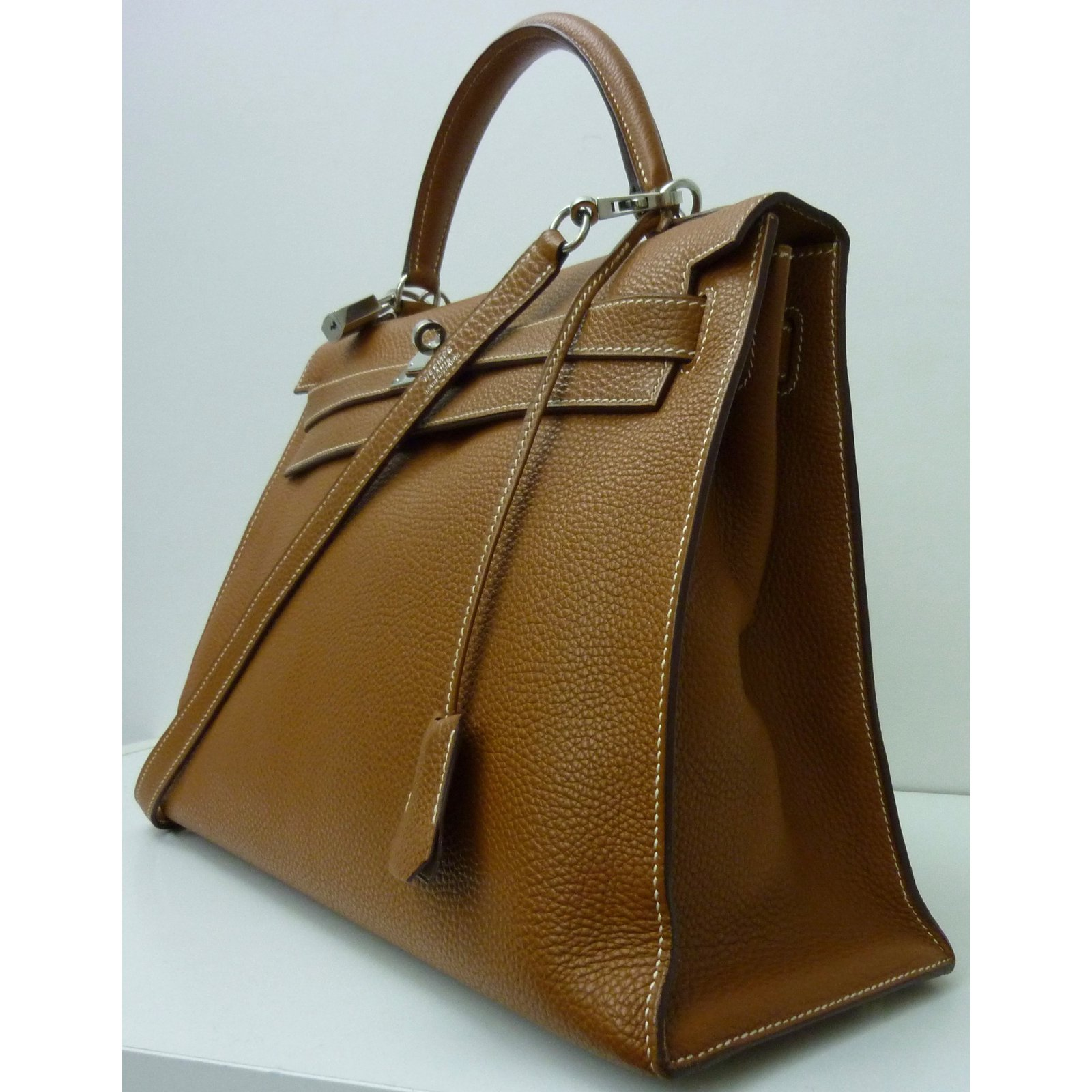 30f46de5cbbb Hermès Kelly 32 sellier togo Handbags Leather Caramel ref.53290 ...