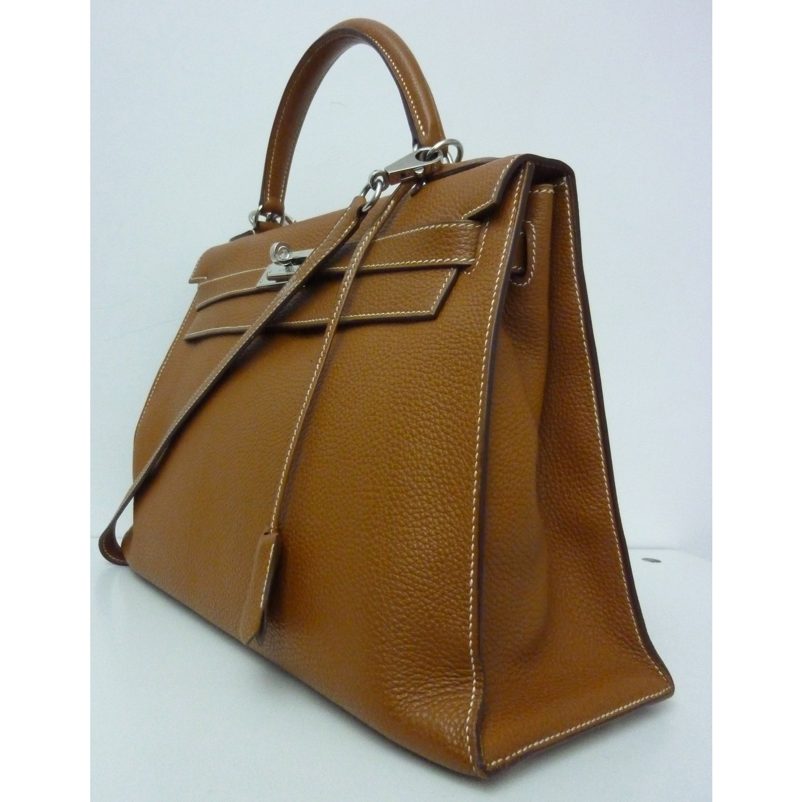 309c3f9a288d Hermès Kelly 32 sellier togo Handbags Leather Caramel ref.53290 - Joli  Closet