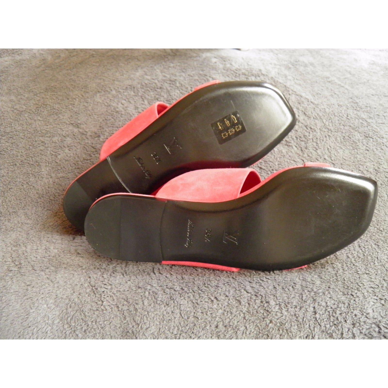 4c2dac78d39d Louis Vuitton new wave Sandals Suede Pink ref.53398 - Joli Closet