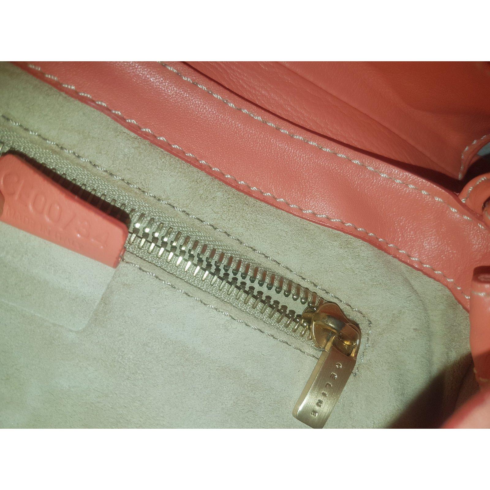 c93f91abe6 Céline Clutch bags Clutch bags Suede Orange ref.53697 - Joli Closet