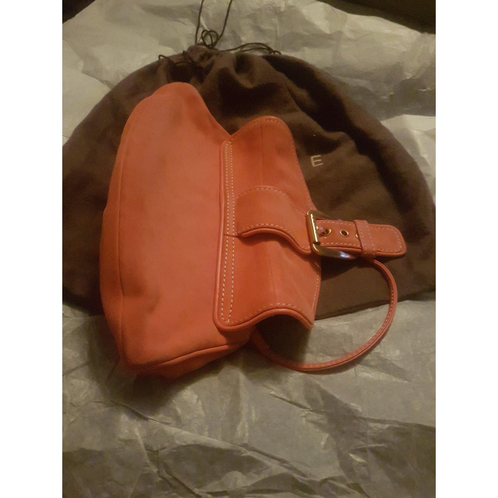 47744e4d40 Facebook · Pin This. Céline Clutch bags Clutch bags Suede Orange ref.53697