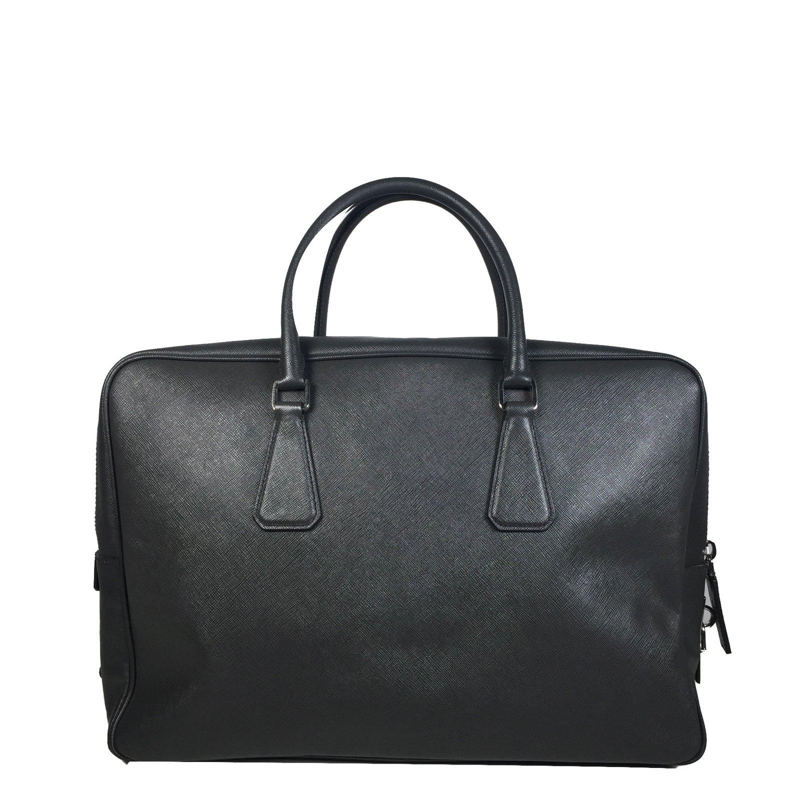 9313a11a4b90 Prada Bags Briefcases Bags Briefcases Leather Dark grey ref.53713 - Joli  Closet