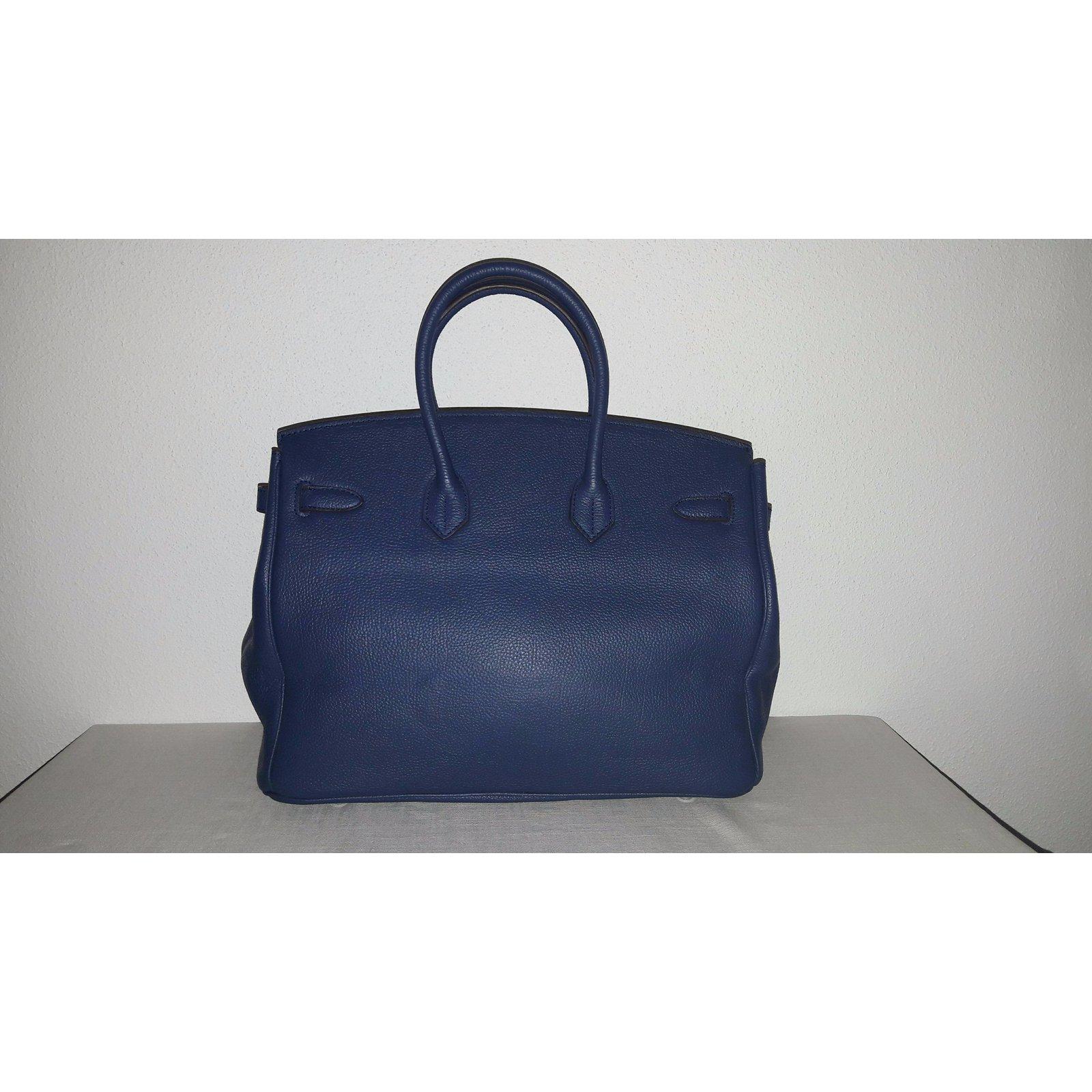 aba0560194 Hermès BIRKIN BLEU 35 Handbags Leather Navy blue ref.54322 - Joli Closet