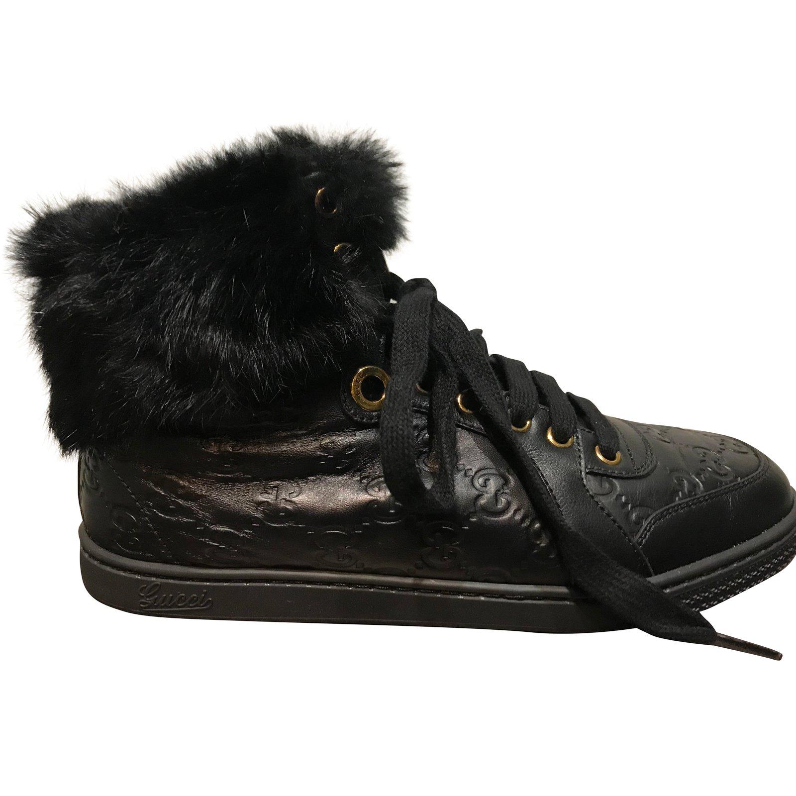 75a83e6969f Gucci CODA Sneakers Sneakers Leather Black ref.54641 - Joli Closet