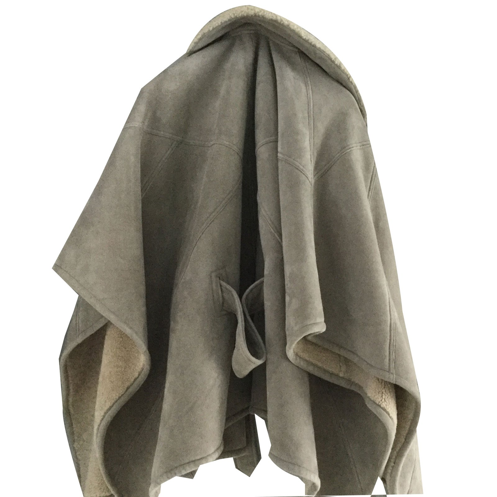 manteaux polo ralph lauren cape en mouton retourn cuir d. Black Bedroom Furniture Sets. Home Design Ideas
