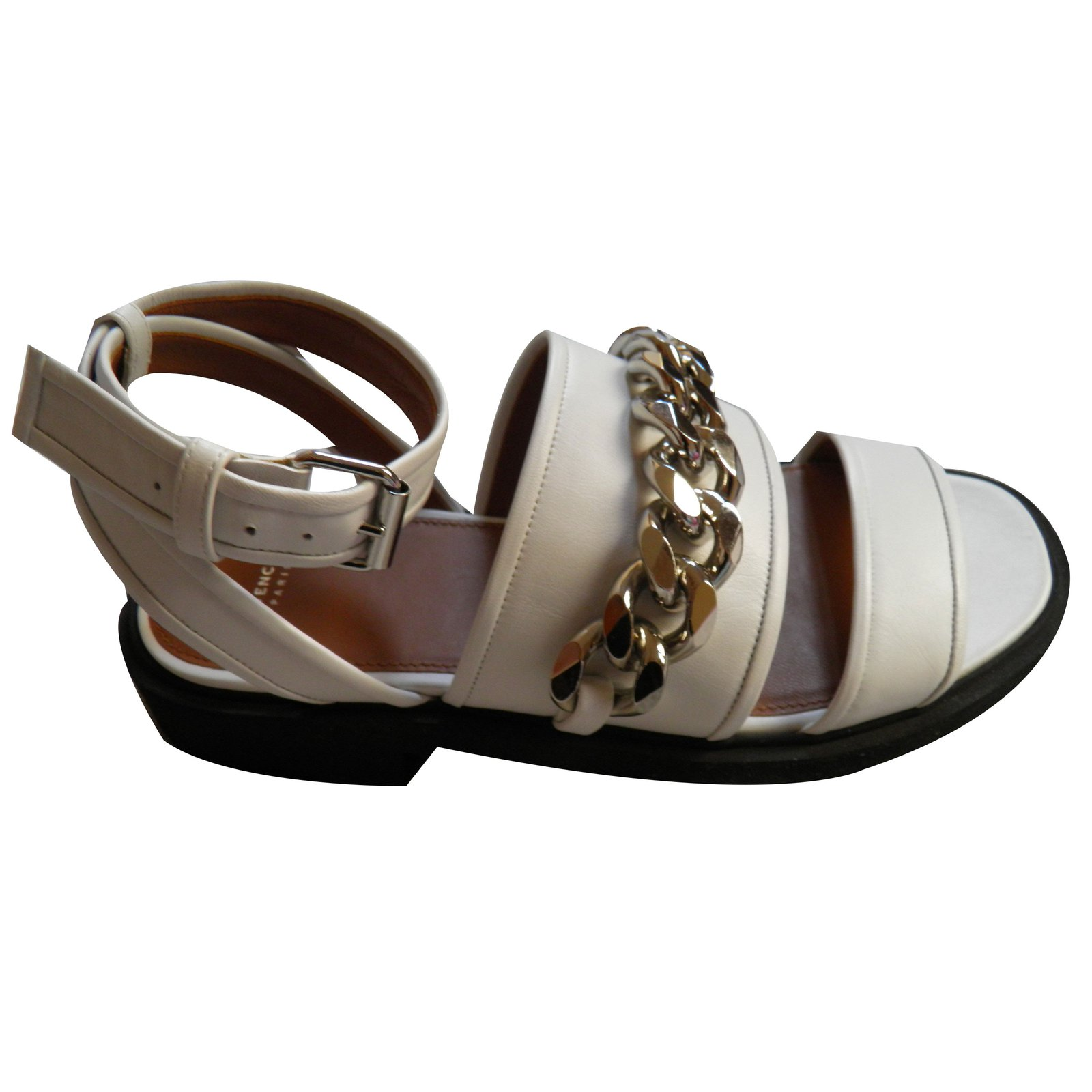 0717c45388e4 Givenchy Sandals Sandals Leather White ref.54829 - Joli Closet