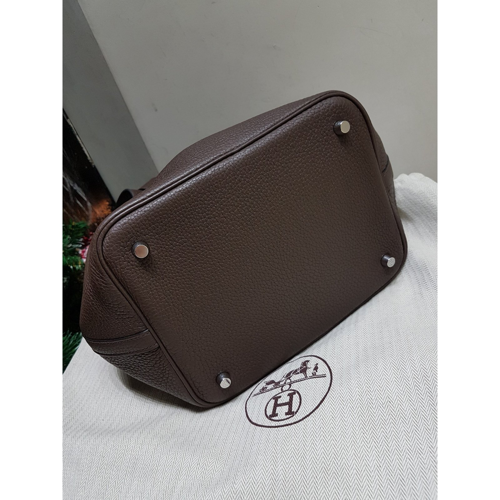 6b6995584924 ... usa leather bag hermès hermes picotin handbags leather brown ref.55141 joli  closet a4882 2c0ca