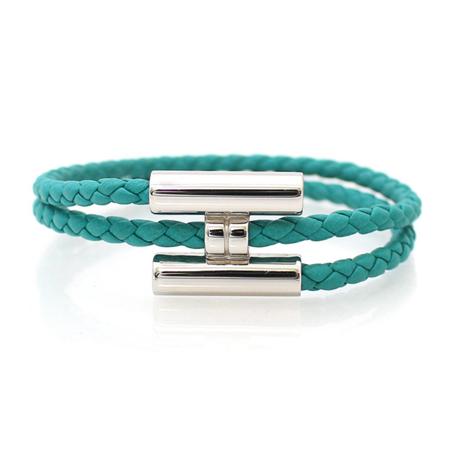 0fd9fdd837 ... spain hermès bracelet tournis tressé wallets small accessories leather  blue ref.56129 joli closet 1dd7c