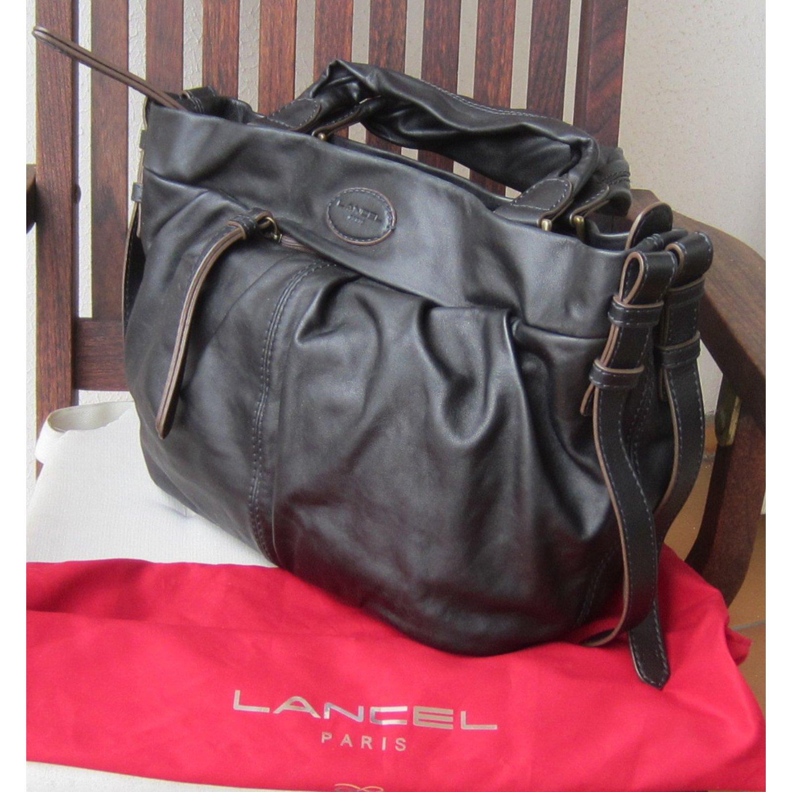 d2b039f0a91e Sacs à main Lancel angelina Cuir Noir ref.56763 - Joli Closet