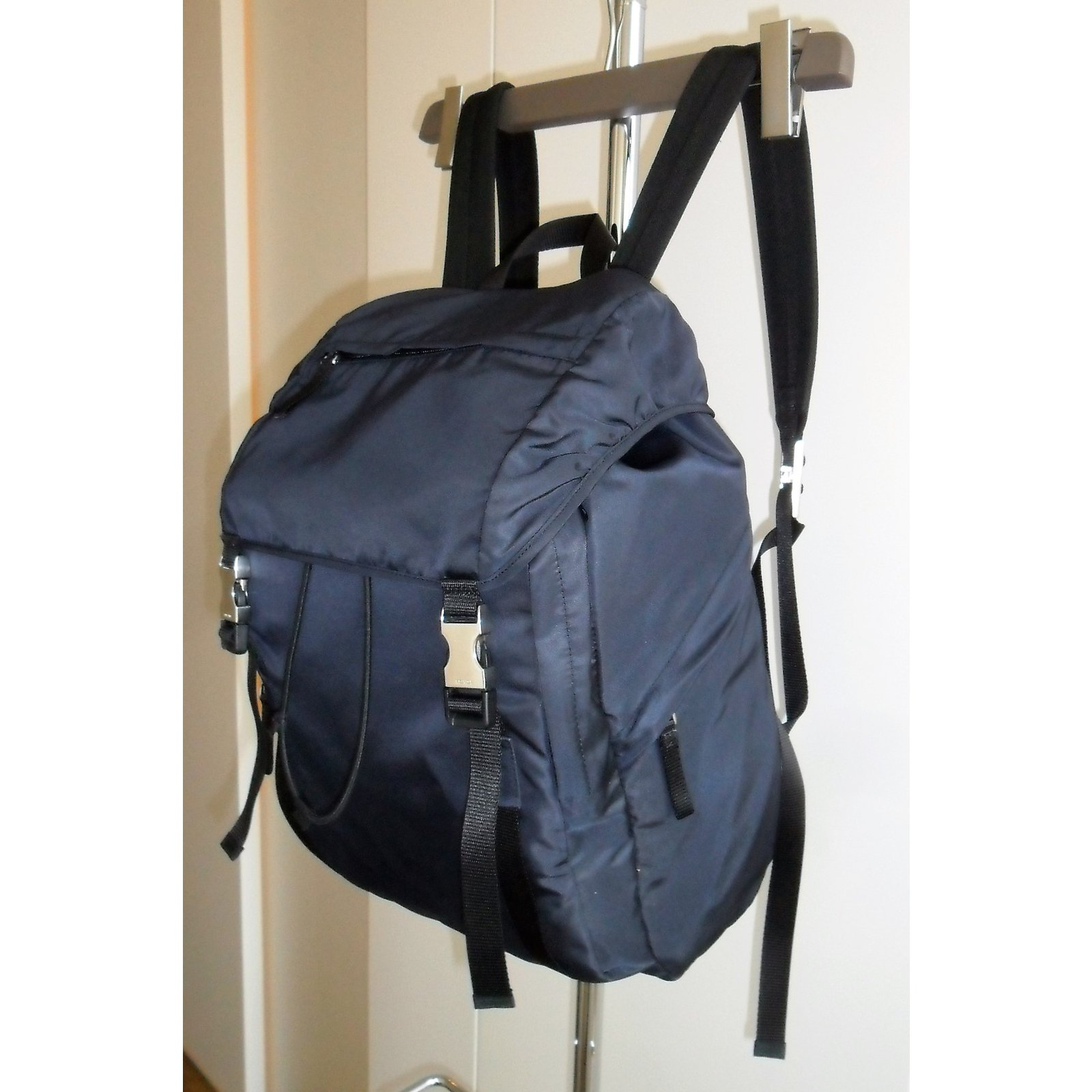 f62dbbbded55 Prada PRADA NYLON BACKPACK GREAT CONDITIONS Bags Briefcases Nylon Blue  ref.57123 - Joli Closet