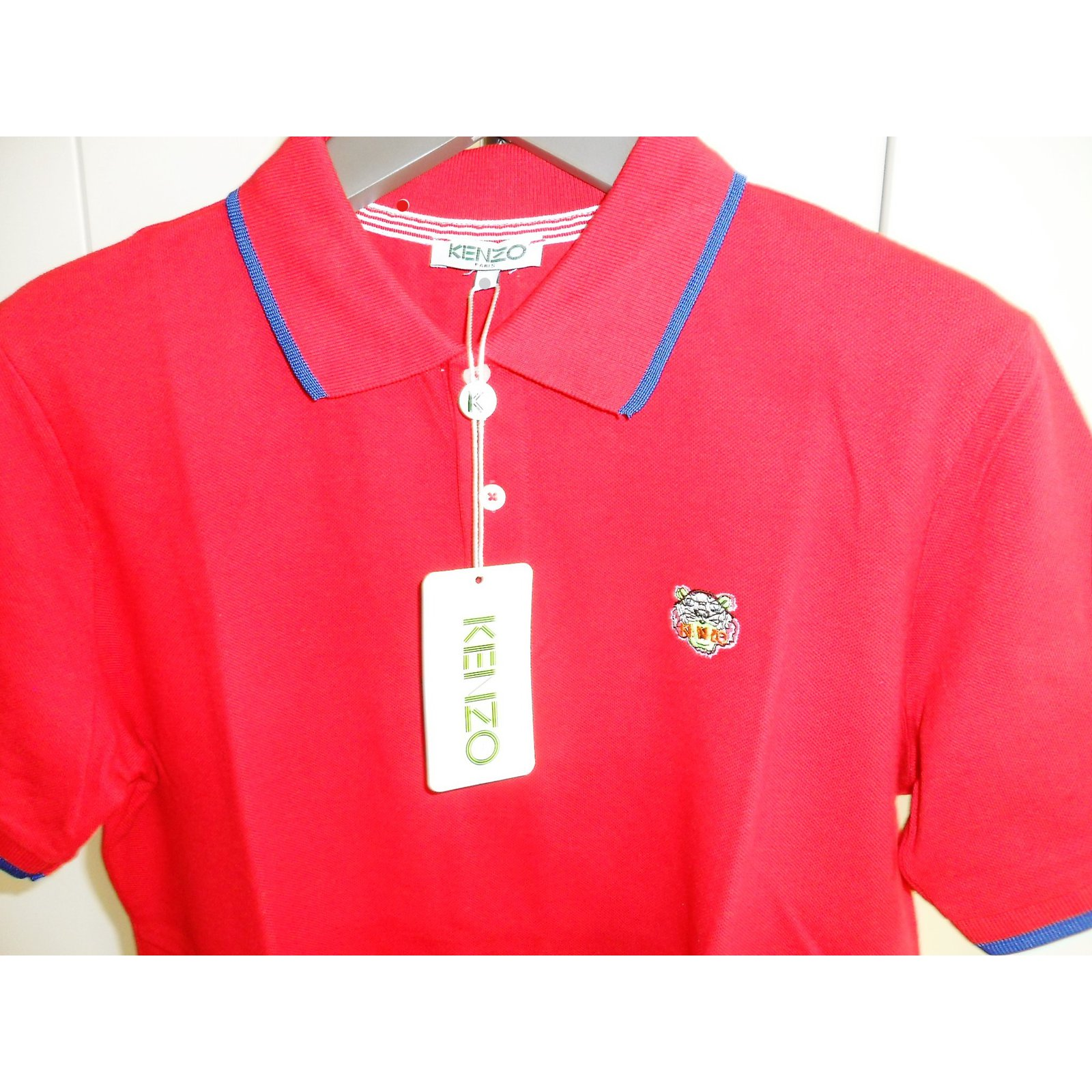 e0627fb1a6 Kenzo new men's polo with tiger logo, red large