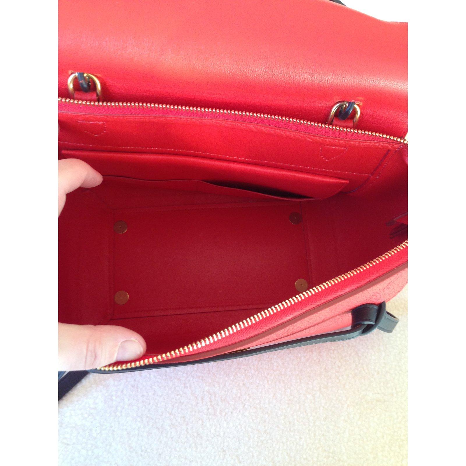 842c5f118839 Céline Mini belt Handbags Leather Red ref.57177 - Joli Closet