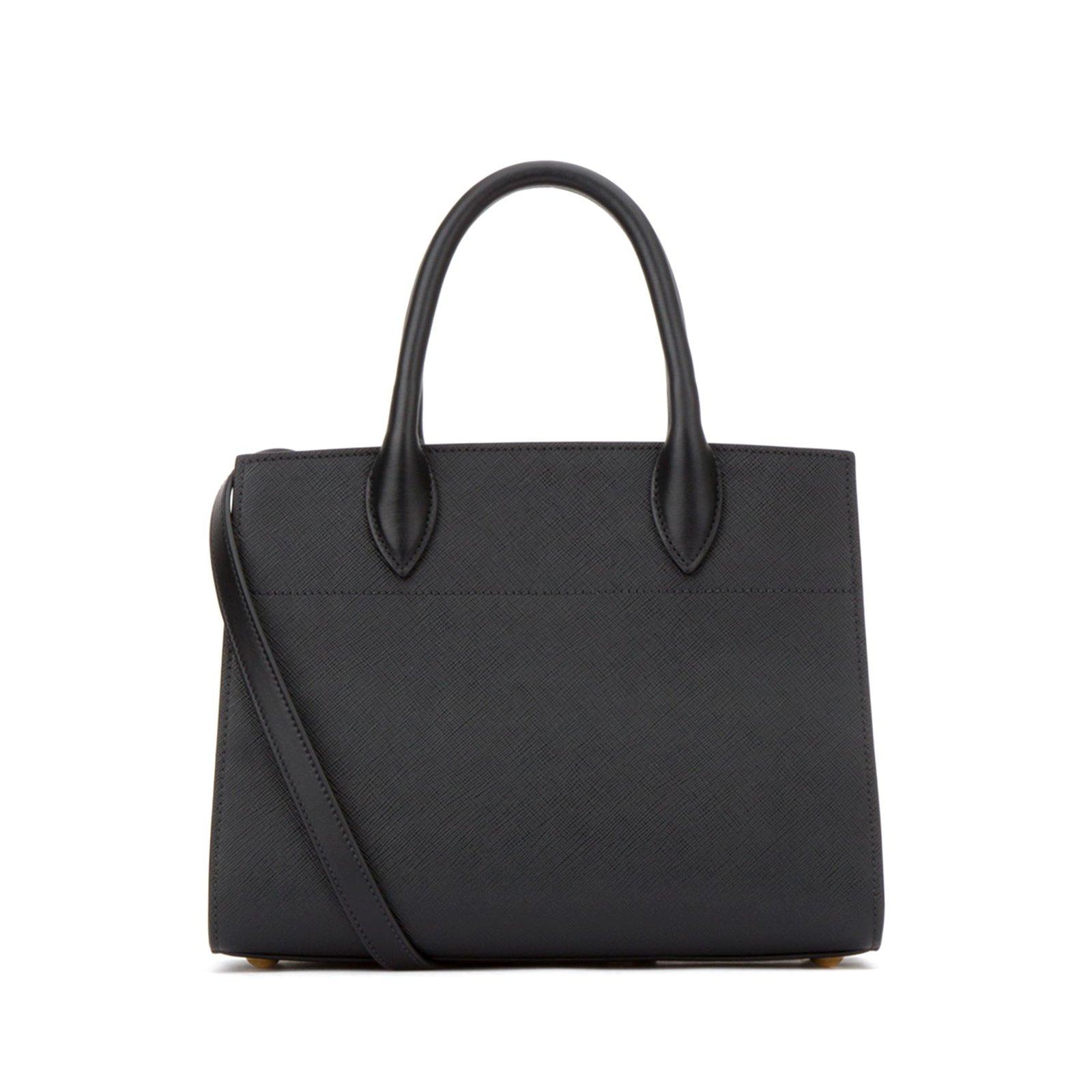 b744c44db3f9 Prada Prada Bibliothèque Handbags Leather Black ref.57262 - Joli Closet