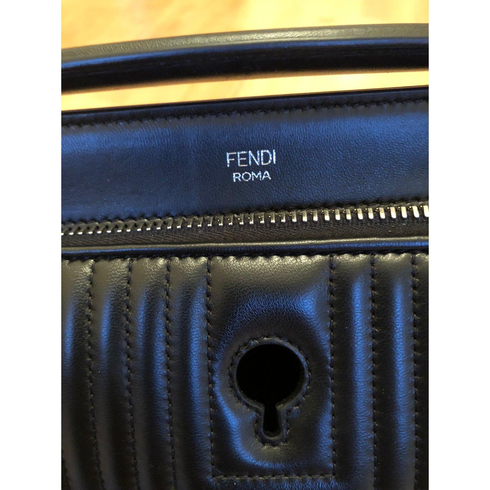 93b7166165 ... canada fendi fendi black matelasse leather dotcom click bag in new  condition handbags leather black ref ...