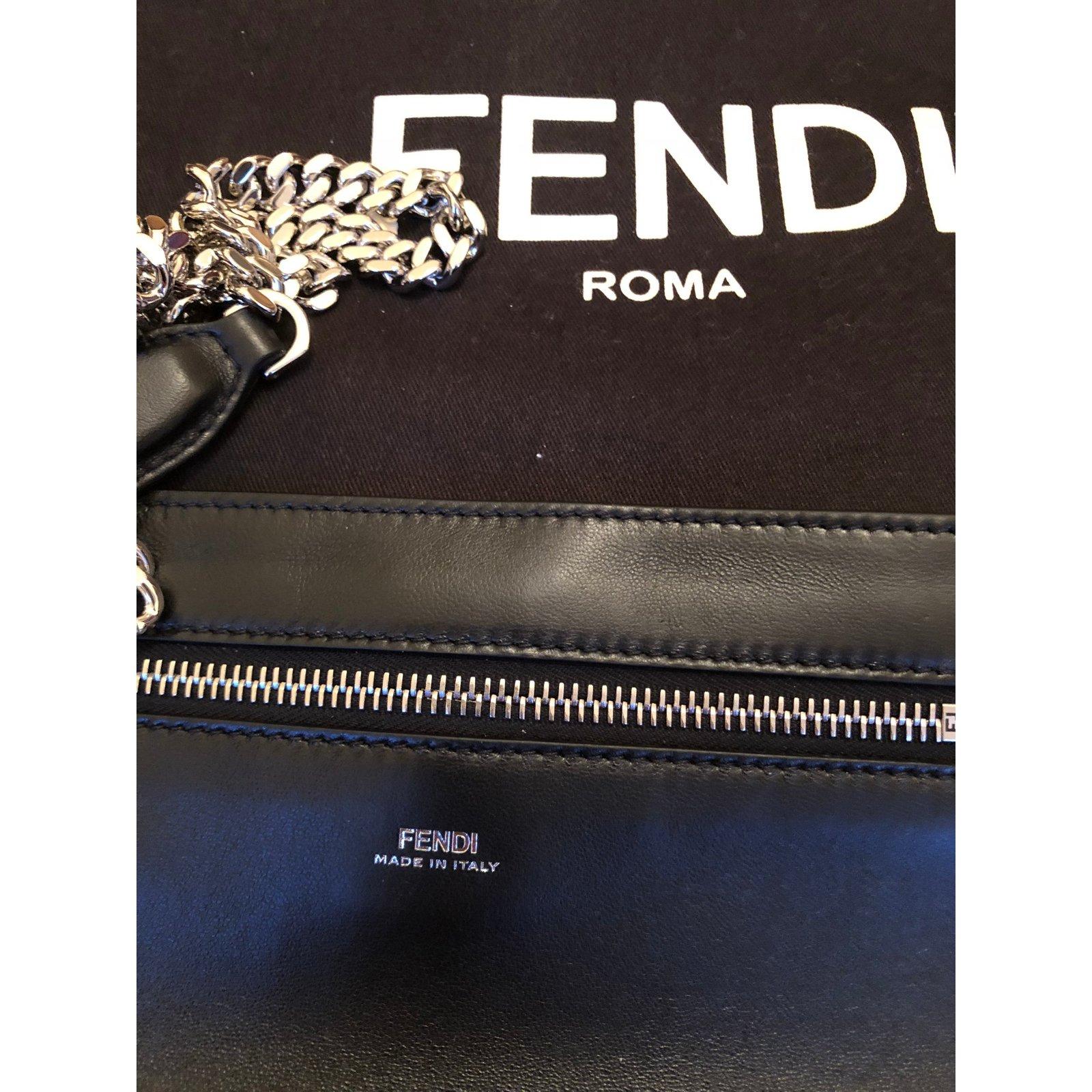 826d00c1bc44 ... canada fendi fendi black matelasse leather dotcom click bag in new  condition handbags leather black ref ...