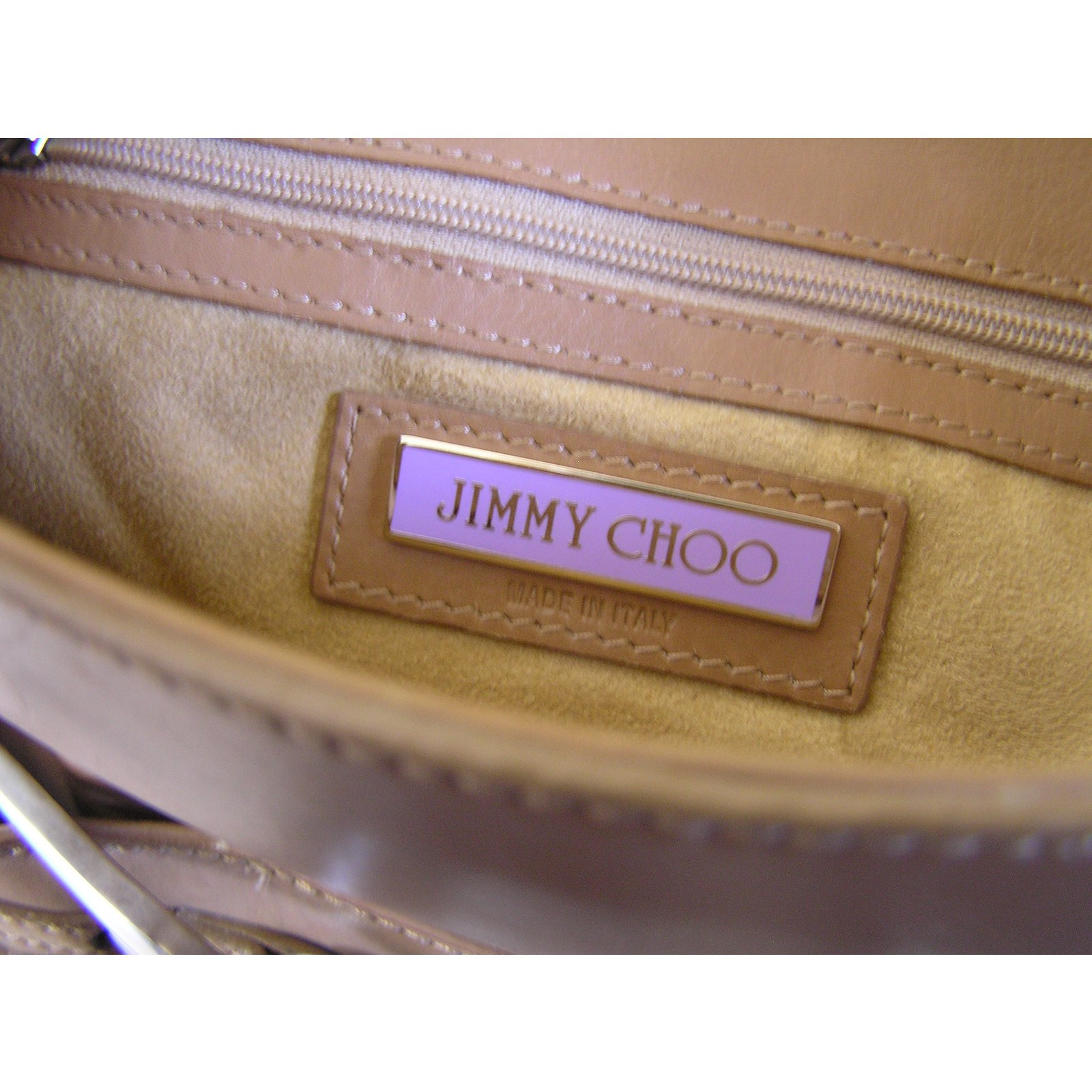 8690d8a3fa Jimmy Choo Handbags Handbags Leather Caramel ref.58062 - Joli Closet