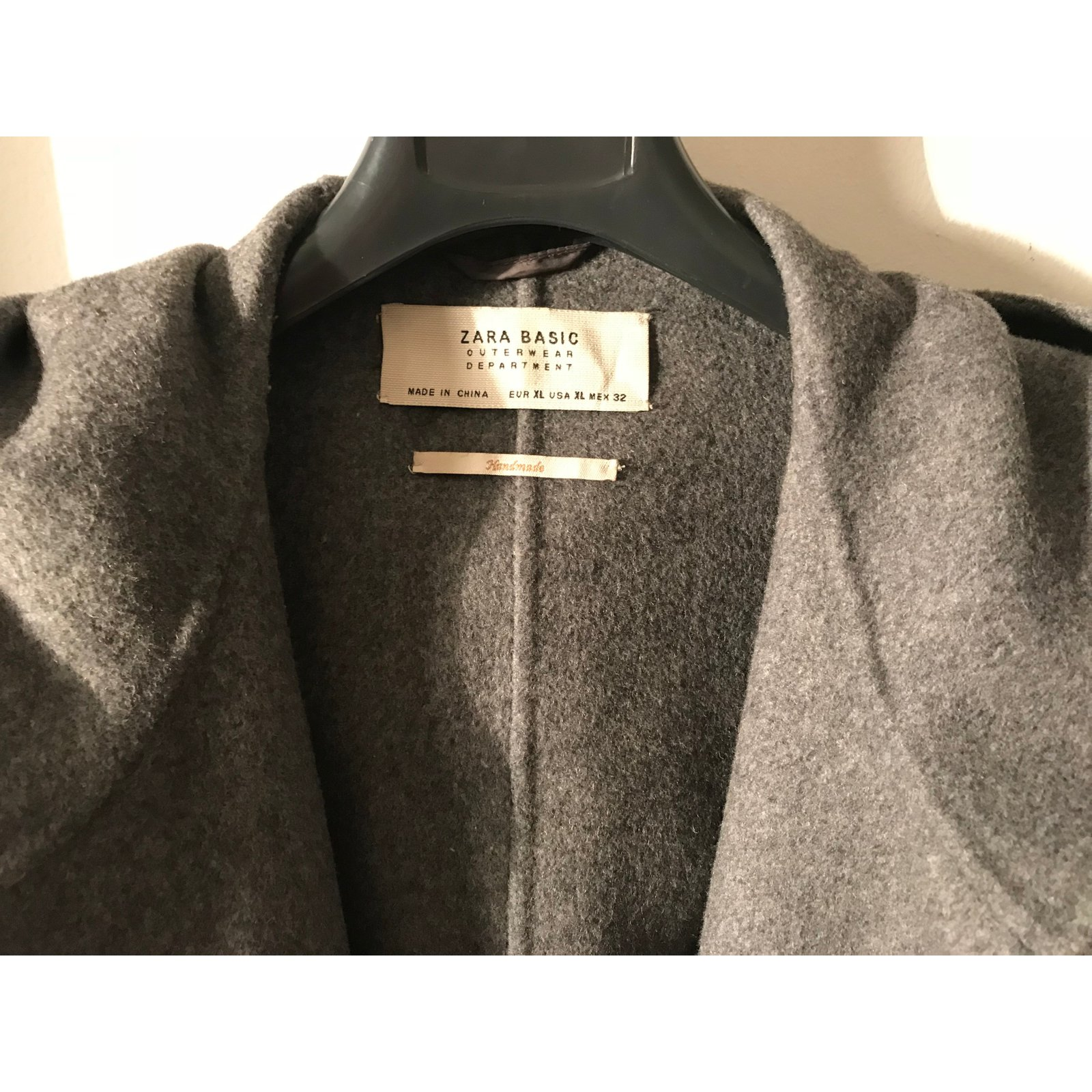 Zara Nouvelle Manteau Gris Collection Manteau tsrhQdC