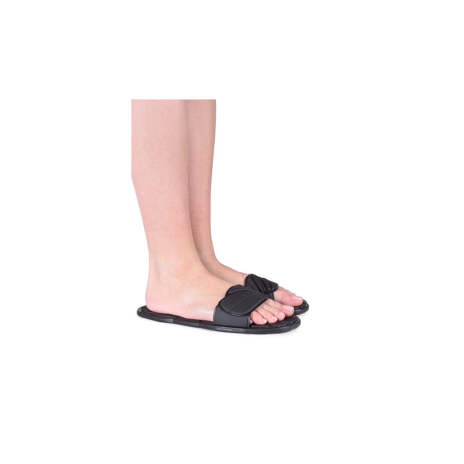 1808188f6e0178 Miu Miu Sandals Sandals Rubber Black ref.58431 - Joli Closet