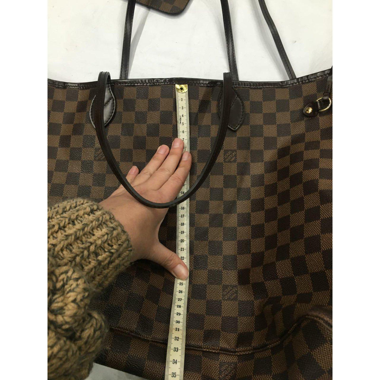 Louis Vuitton neverfull gm Handbags Leather Dark brown ref.58441 - Joli  Closet 94020cbcae7