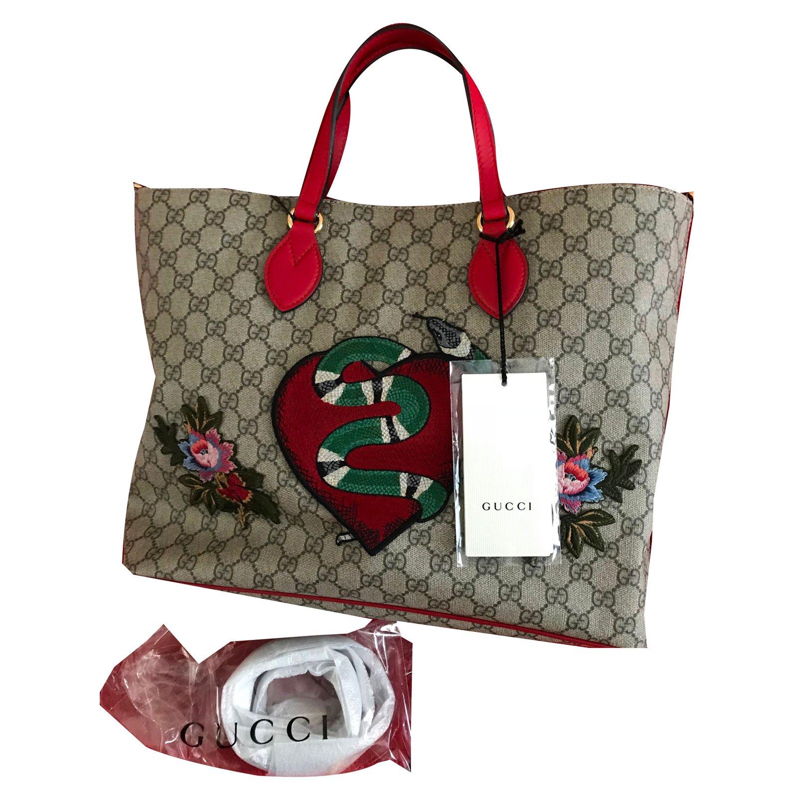 cc34039ba49aa1 Gucci Gucci Limited Edition Soft GG Supreme Tote Bag - Brand New with tags!  Handbags Cloth Beige ref.58453 - Joli Closet