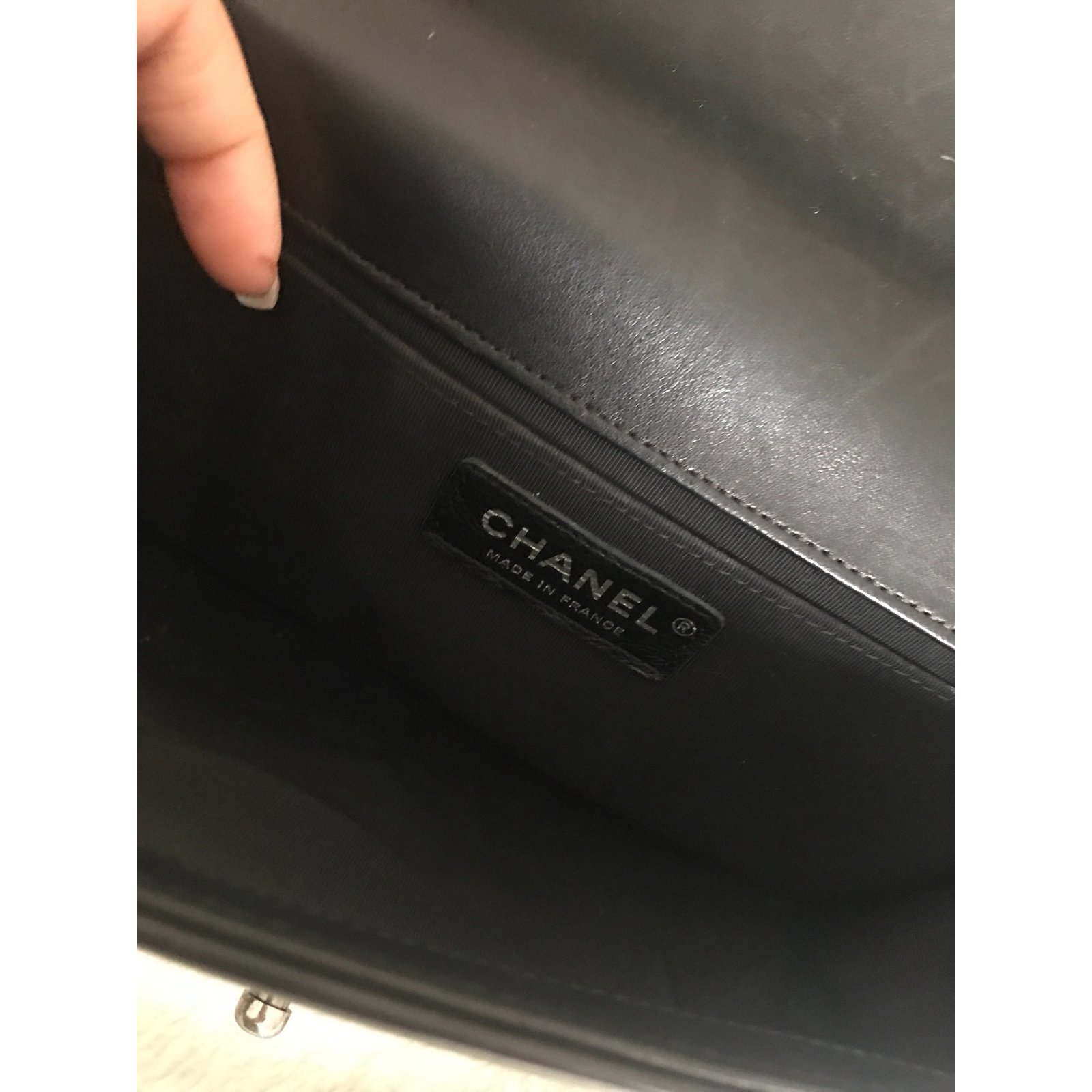 Chanel Le Boy Bag Handbags Leather Black ref.58777 - Joli Closet 12e9bf070f