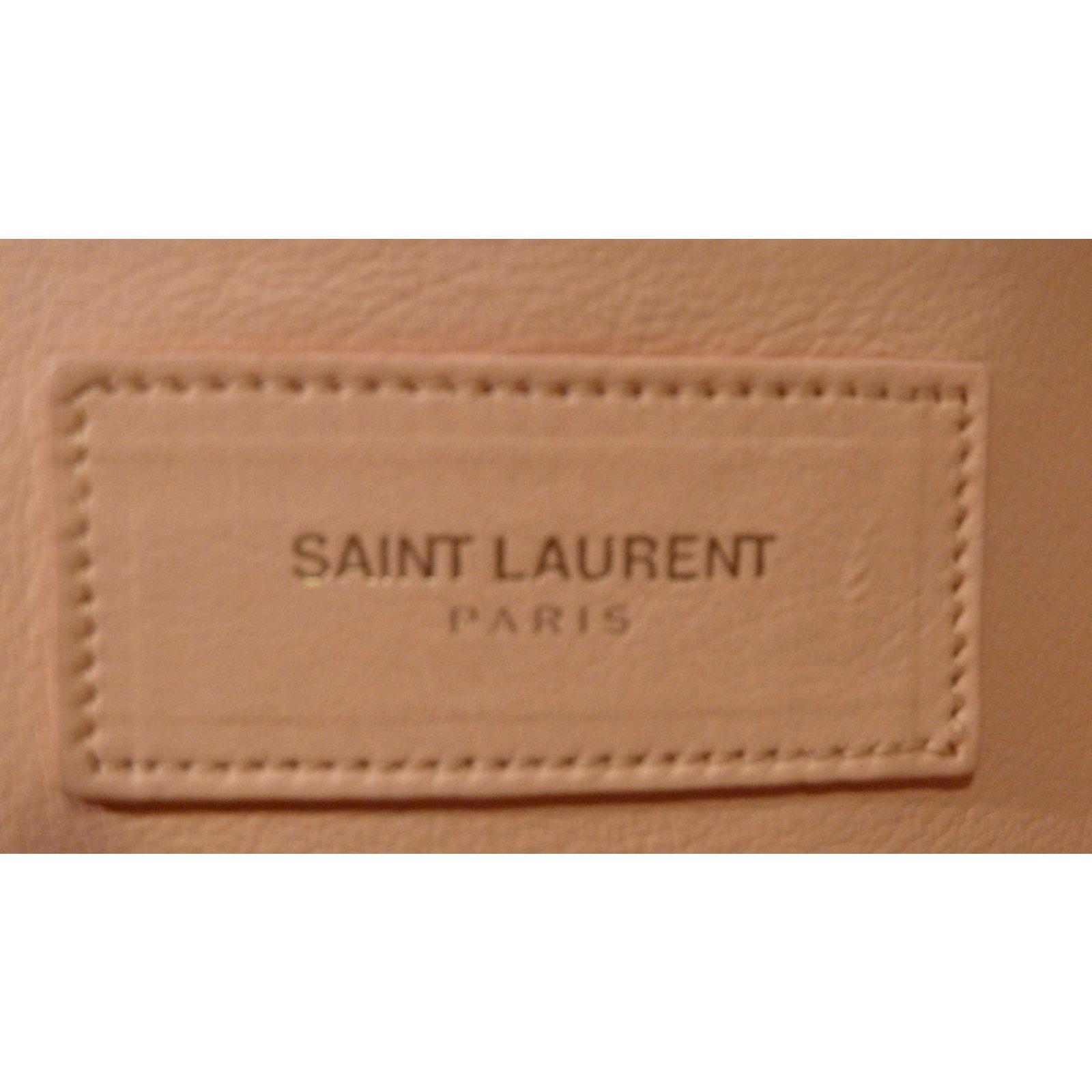 cb32bb4a4e Saint Laurent Small Classic Cabas Handbags Leather Peach ref.58870 - Joli  Closet