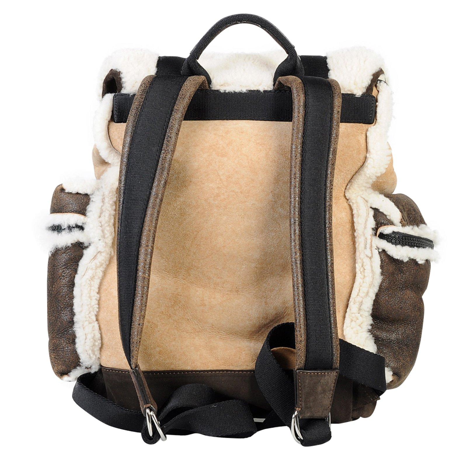 2a2da97b1d9 Dsquared2 Shearling backpack Bags Briefcases Fur Brown ref.58971 - Joli  Closet