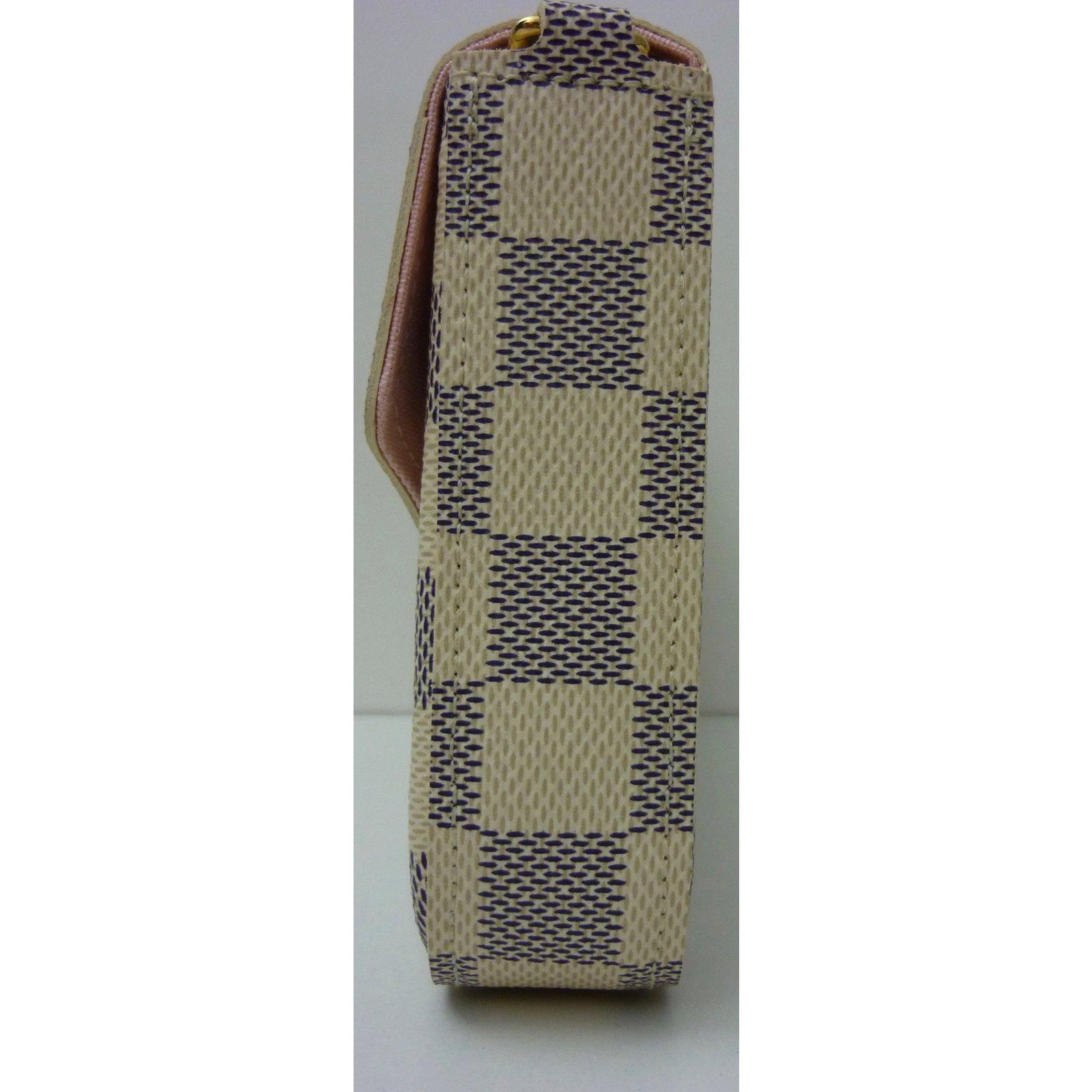 4c3cb7ff6539 Sacs à main Louis Vuitton Sac Pochette Louis Vuitton Félicie à damier azur  état neuf ! Cuir,Toile Beige ref.59081 - Joli Closet