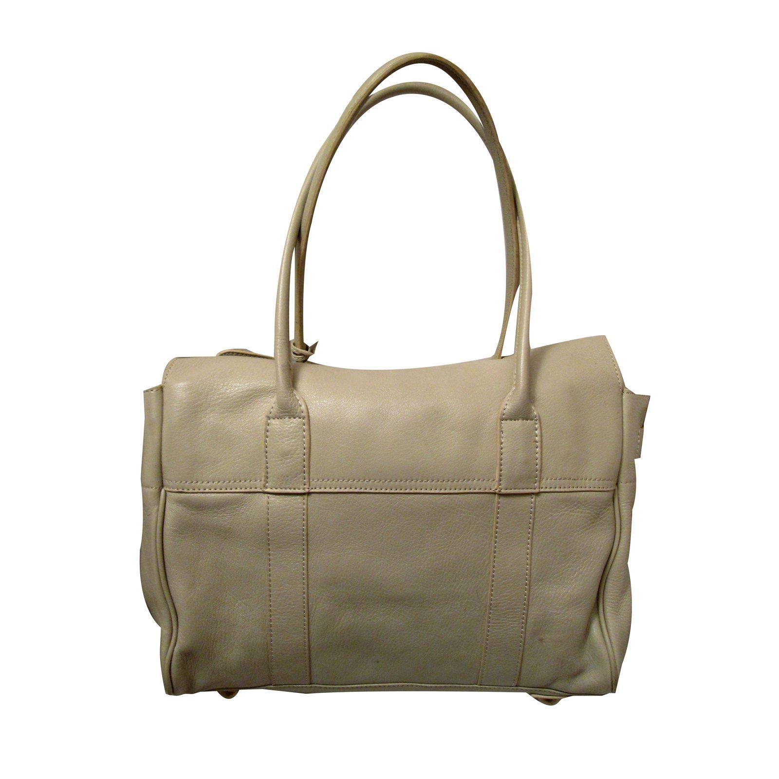 48b4d079fed ... discount code for mulberry handbags handbags leather beige ref.59476  joli closet 316c4 072dd