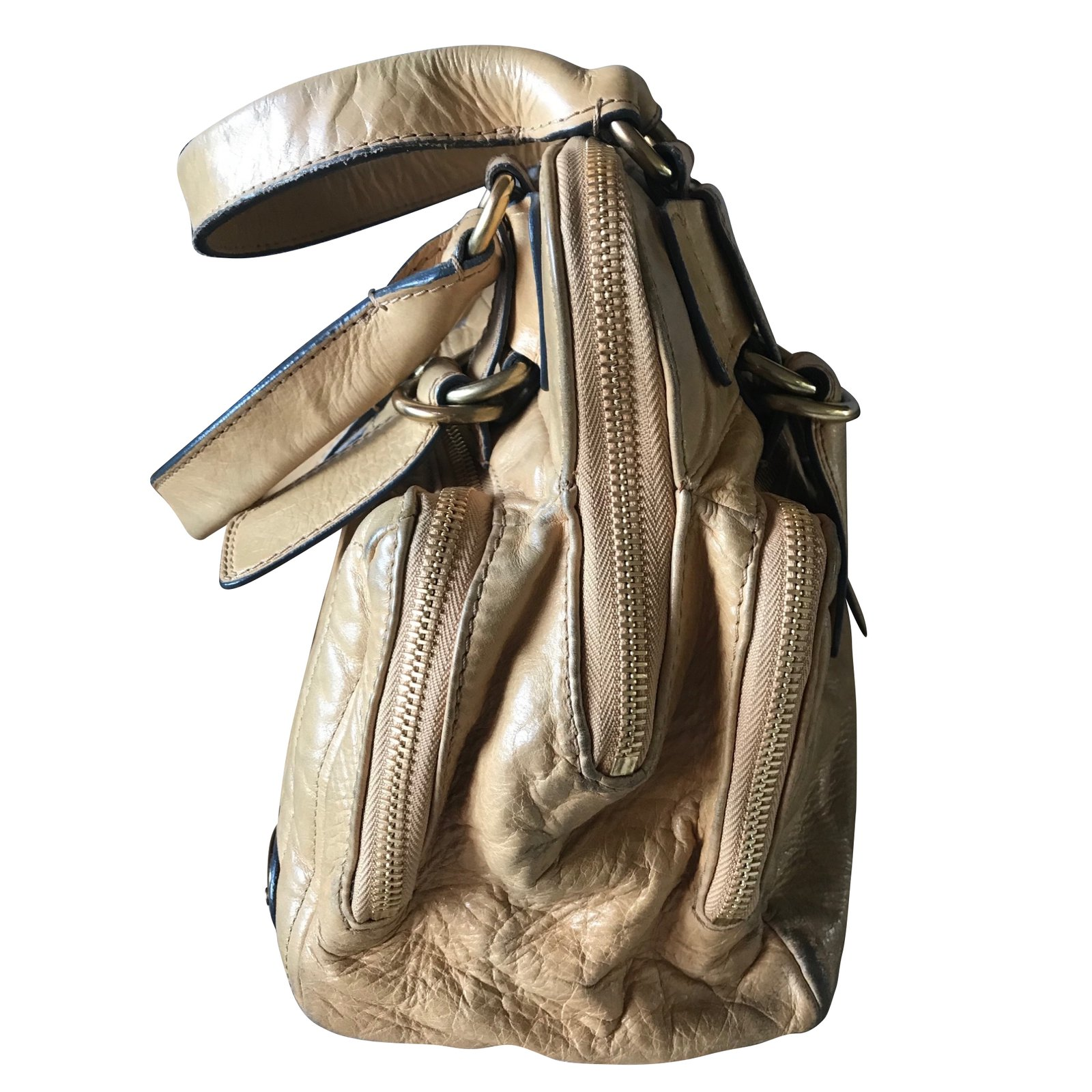 2abbaf4dbc Facebook · Pin This. Chloé Bay bag Handbags Leather Beige ref.60130