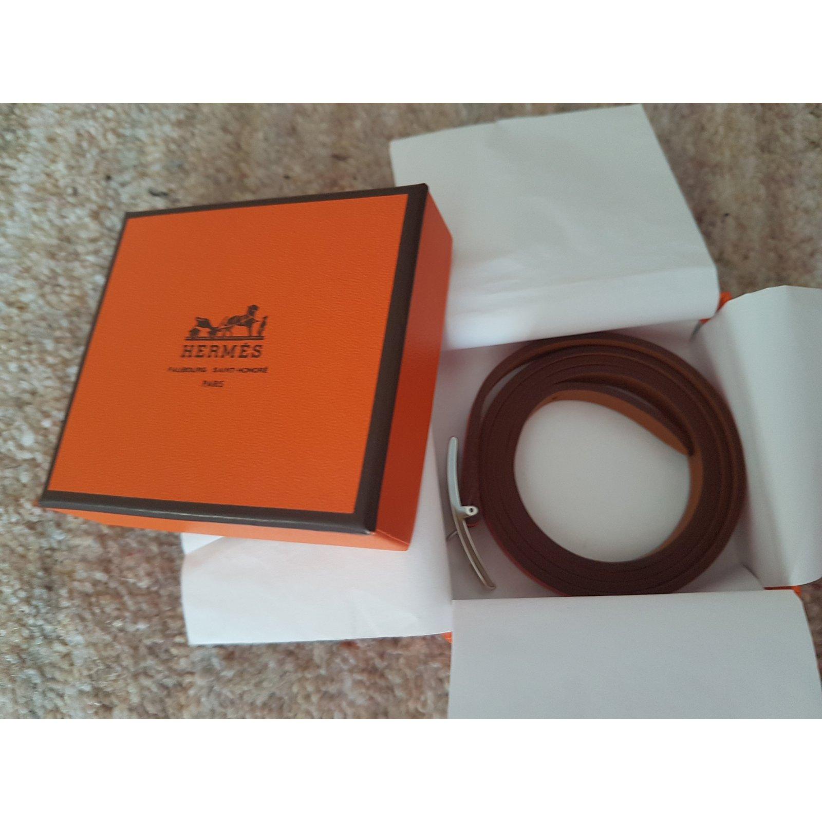 0d0a1be1267f ... switzerland hermès hapi 3 mm leather bracelet bag charms leather red  ref.60177 joli closet ...