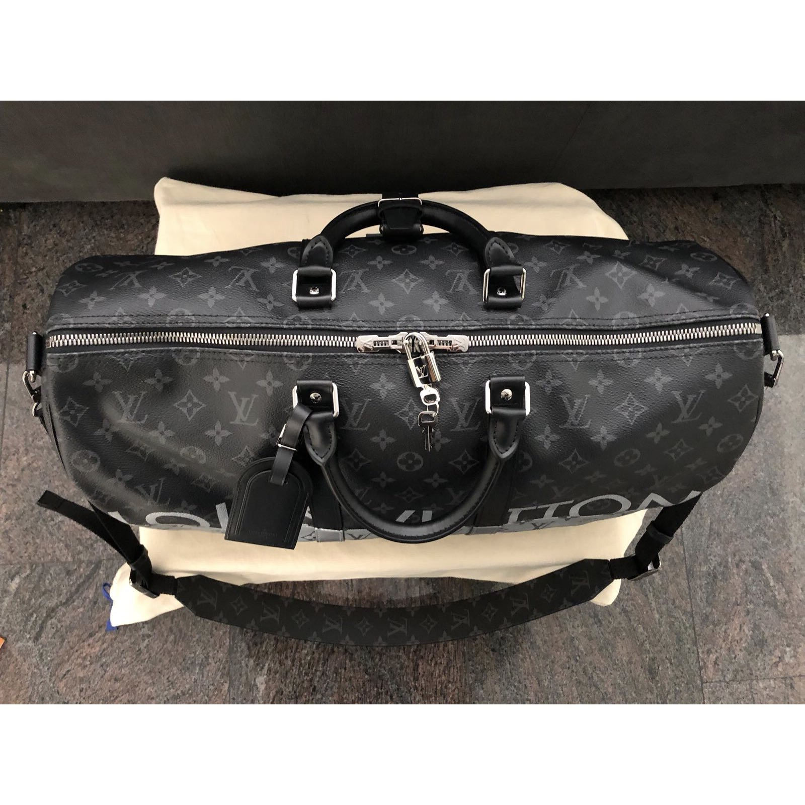 48444a6a6cab Louis Vuitton Keepall 50 Bags Briefcases Leather Multiple colors ref.61059  - Joli Closet