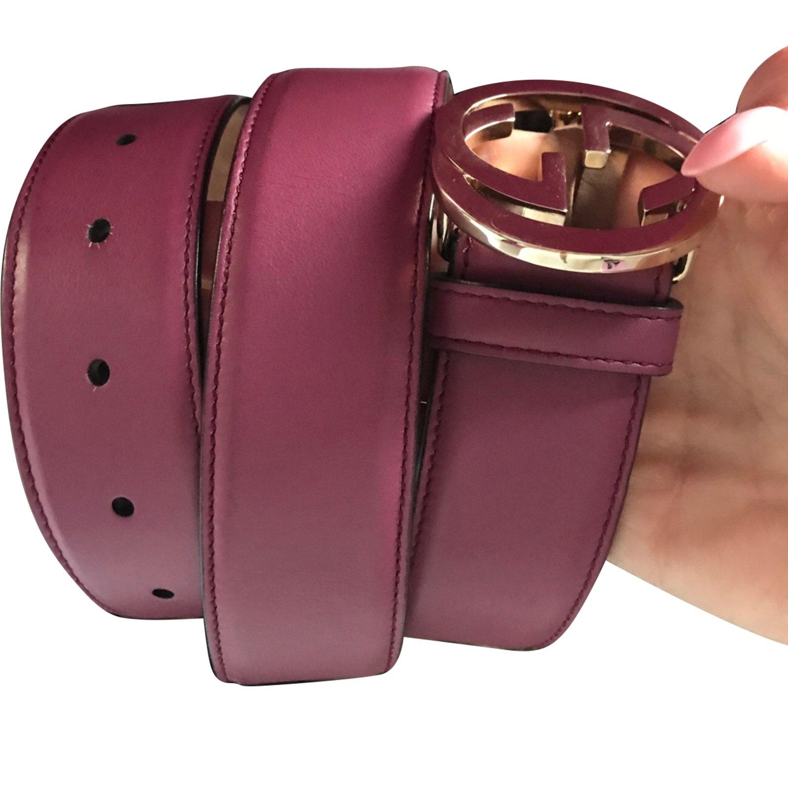 c48df5b84 Gucci Belts Belts Leather Pink ref.61671 - Joli Closet