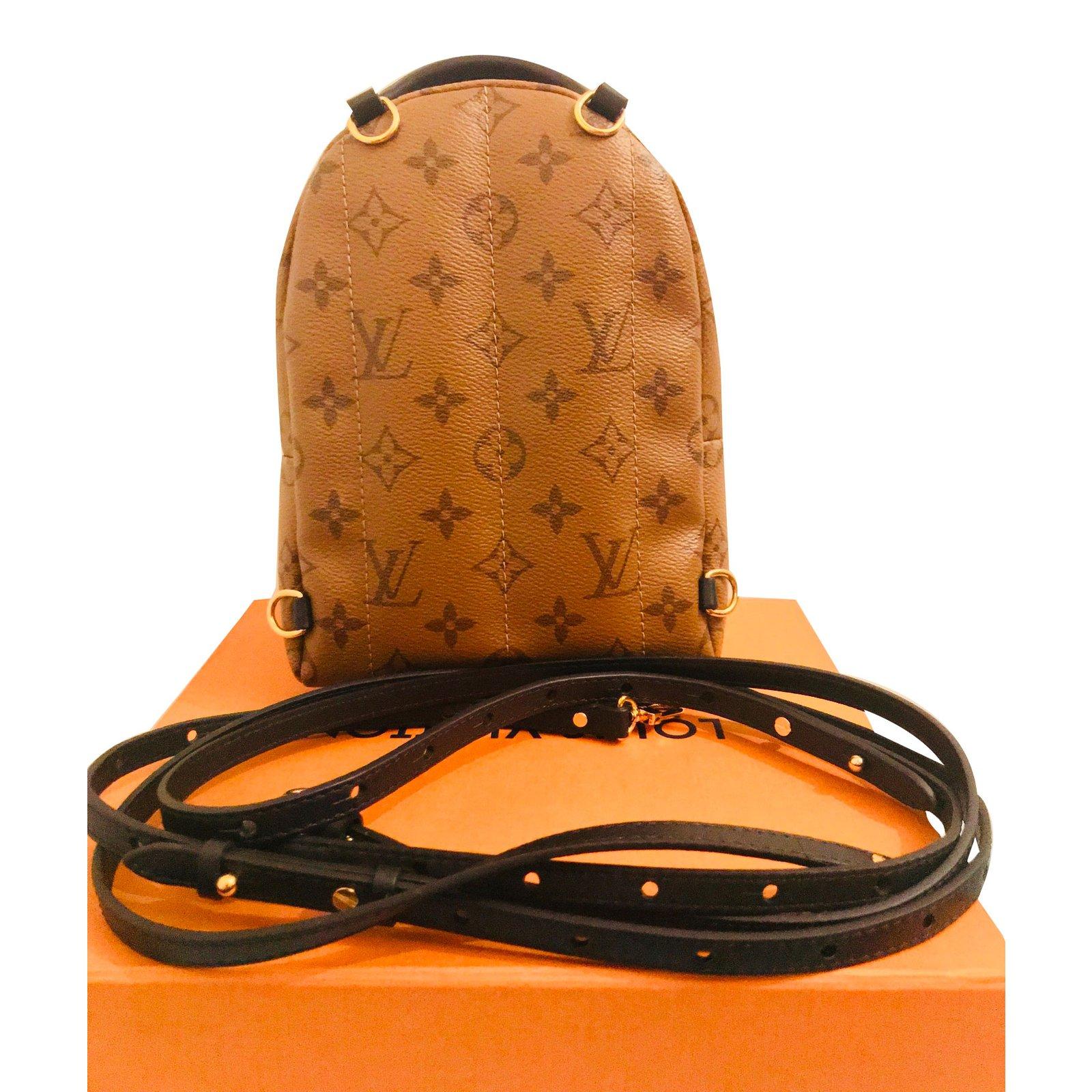 c424914688 Louis Vuitton Palm Springs Mini Backpacks Leather Caramel ref.61713 - Joli  Closet