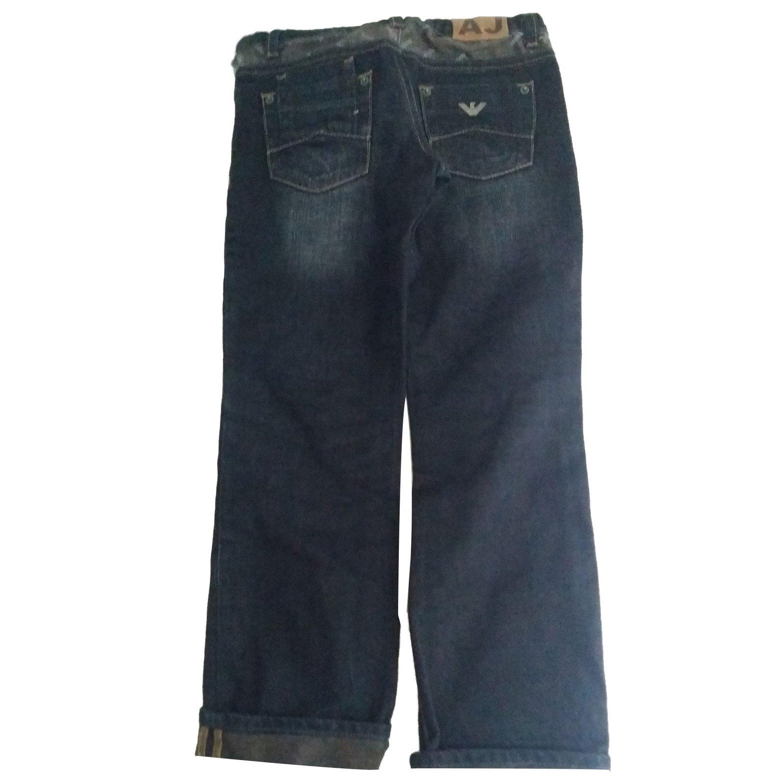 Garçon Pantalons Ref Jean Bleu bleu Armani Marine dPvPgw