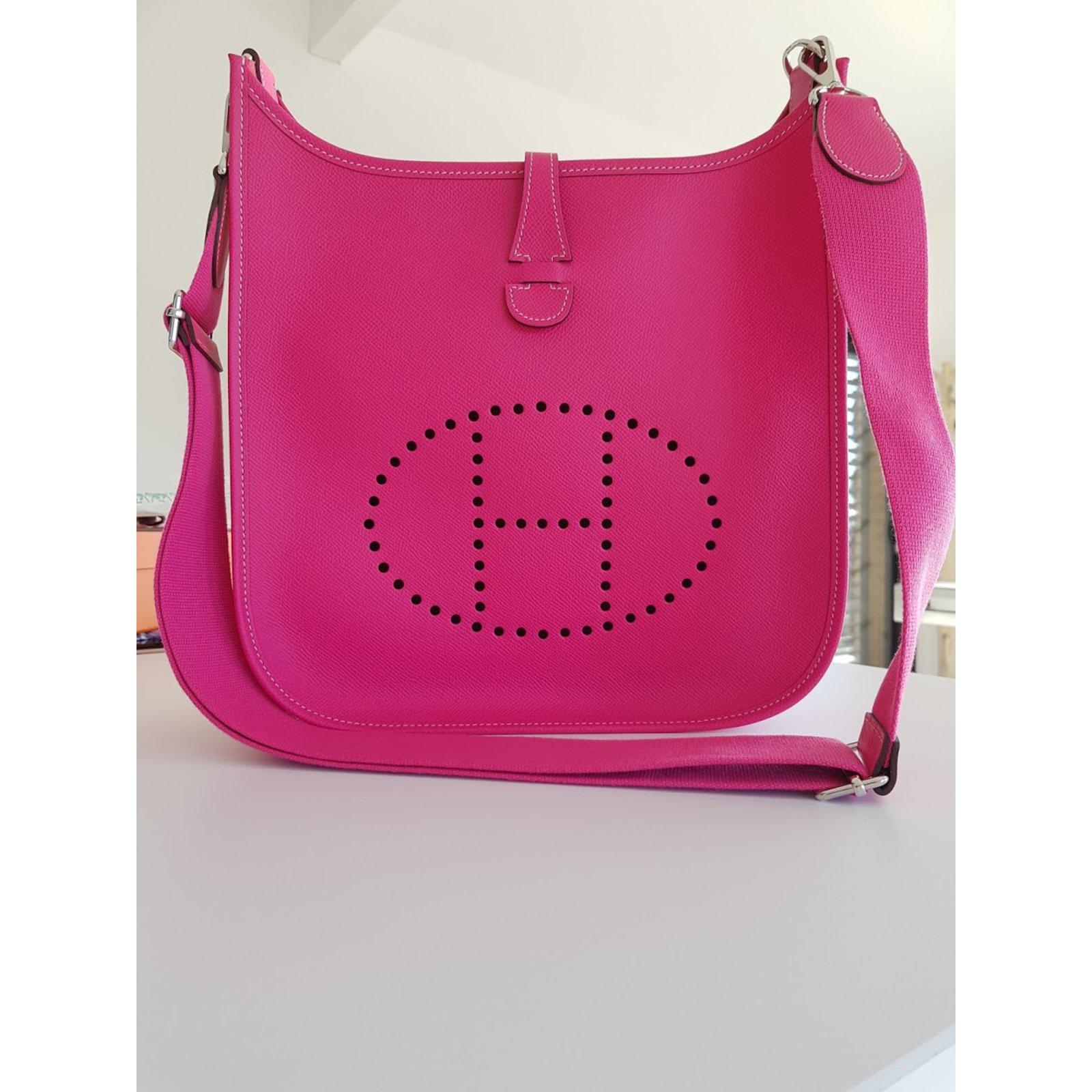 53decf704aa0 Hermès EVELYNE III 29 Handbags Leather Pink ref.61796 - Joli Closet
