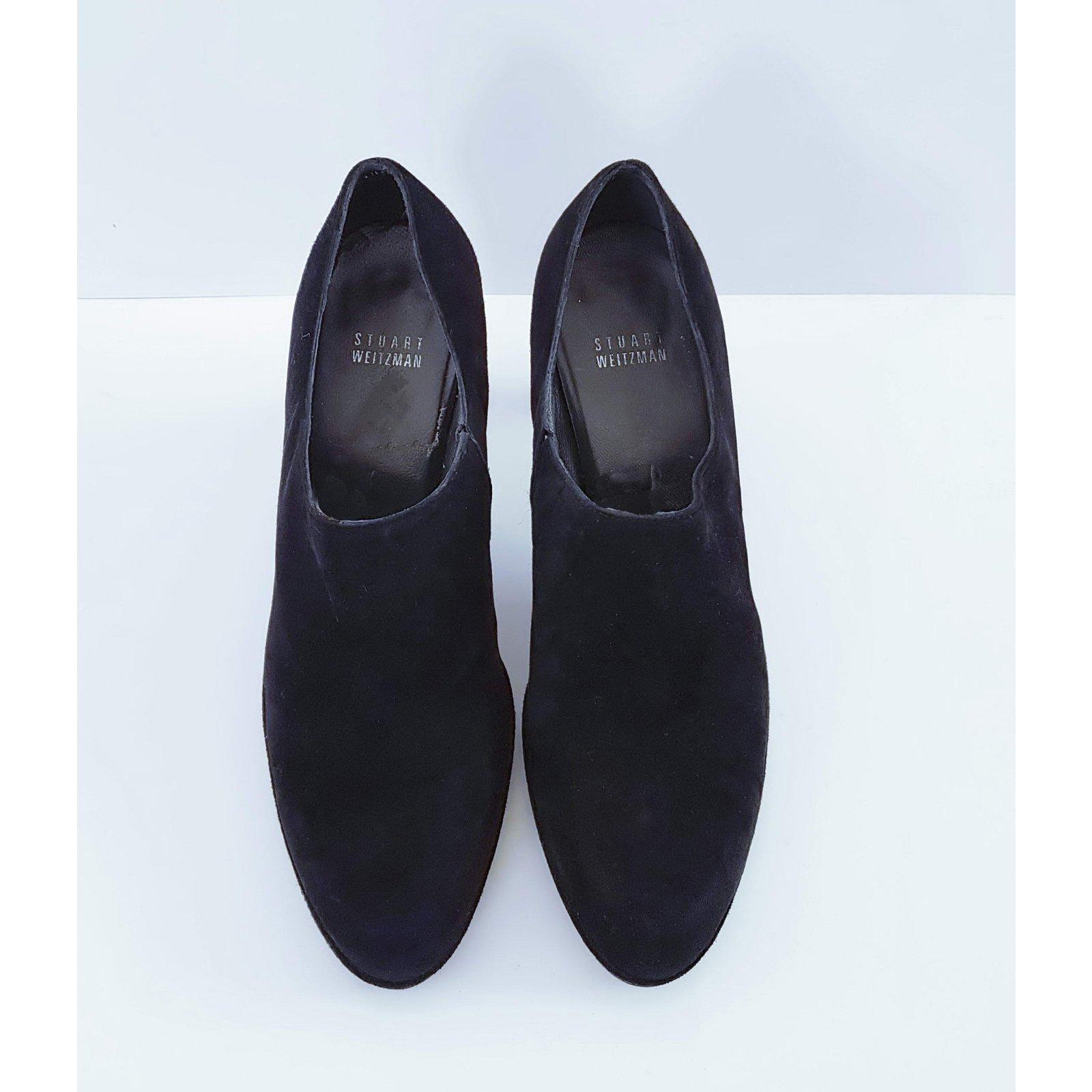 26abcd56a8a5 Stuart Weitzman Ankle Boots Ankle Boots Suede Black ref.62042 - Joli Closet