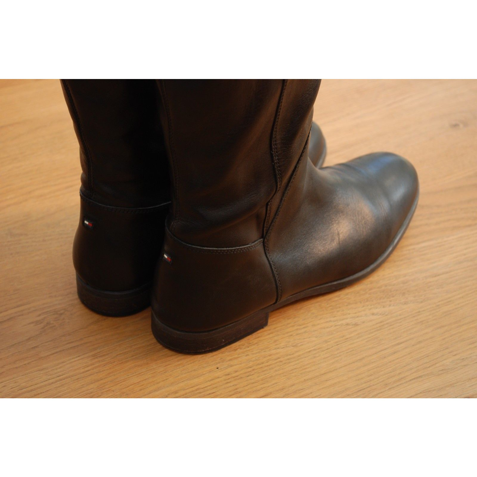 7ae33fa4605a8 Tommy Hilfiger Boots Boots Leather Black ref.62827 - Joli Closet