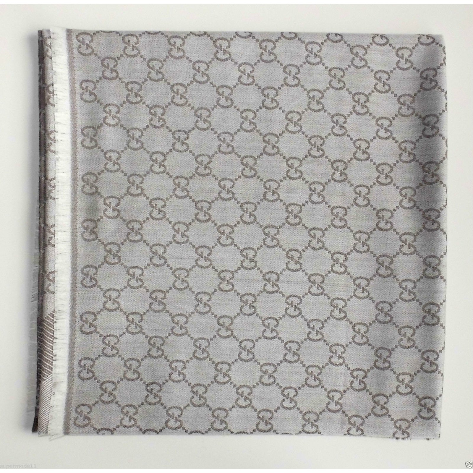 Gucci Ggeweb Gucci New Scarf Scarves Silkwool Multiple Colors Ref