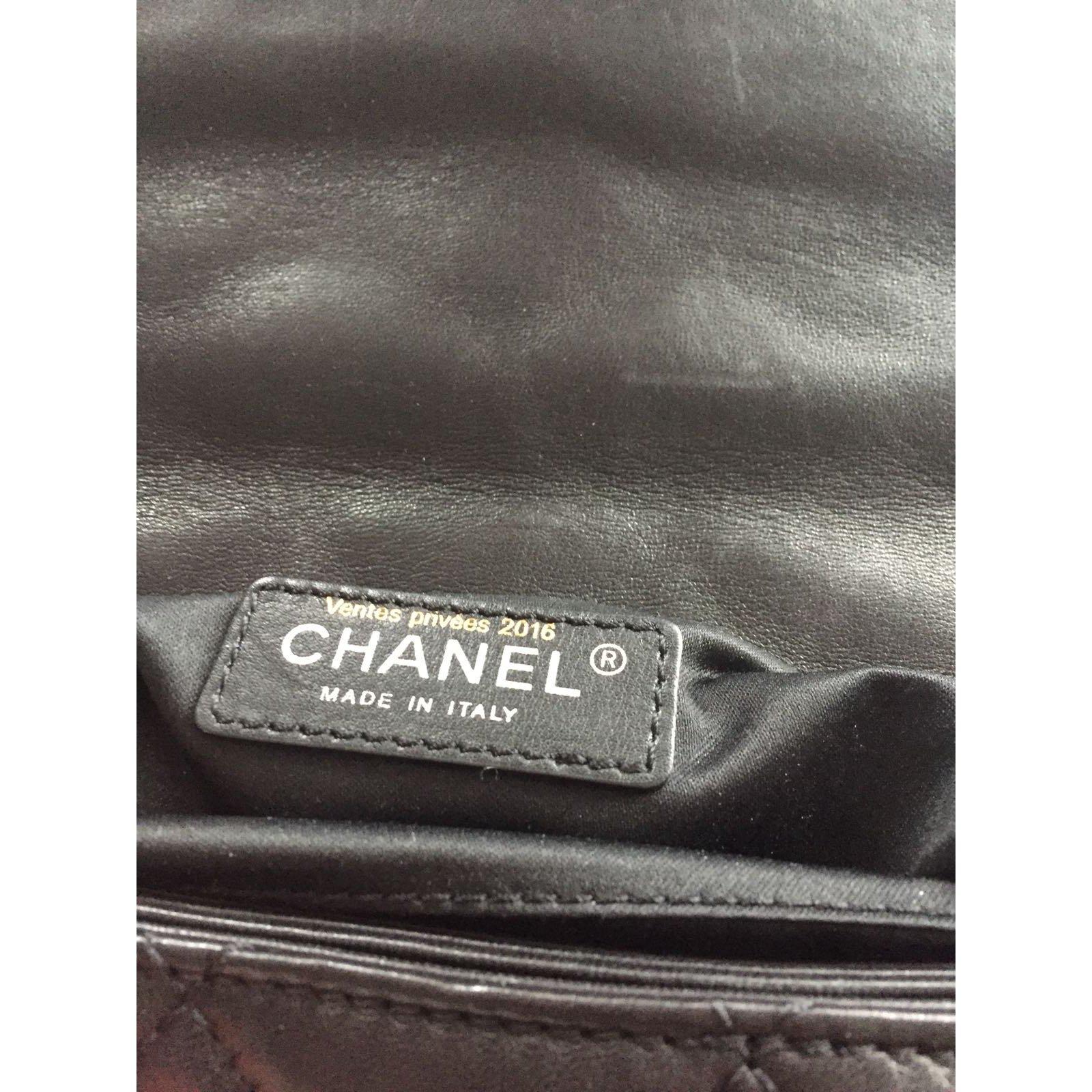 Sacs à main Chanel Sac Chanel Cuir Noir ref.64430 - Joli Closet dead9d15533