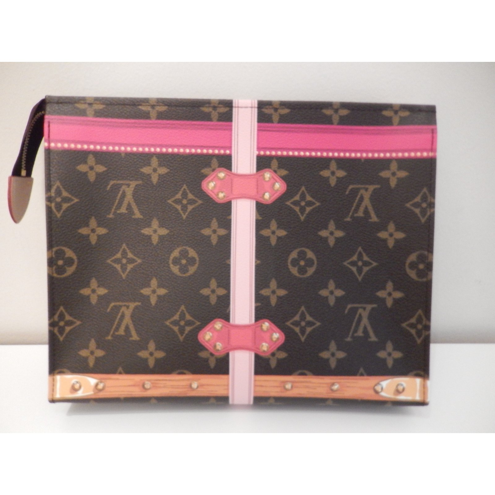 Louis Vuitton Clutch bags Clutch bags Cloth Brown ref.64788 - Joli Closet 4da1f7553e71a