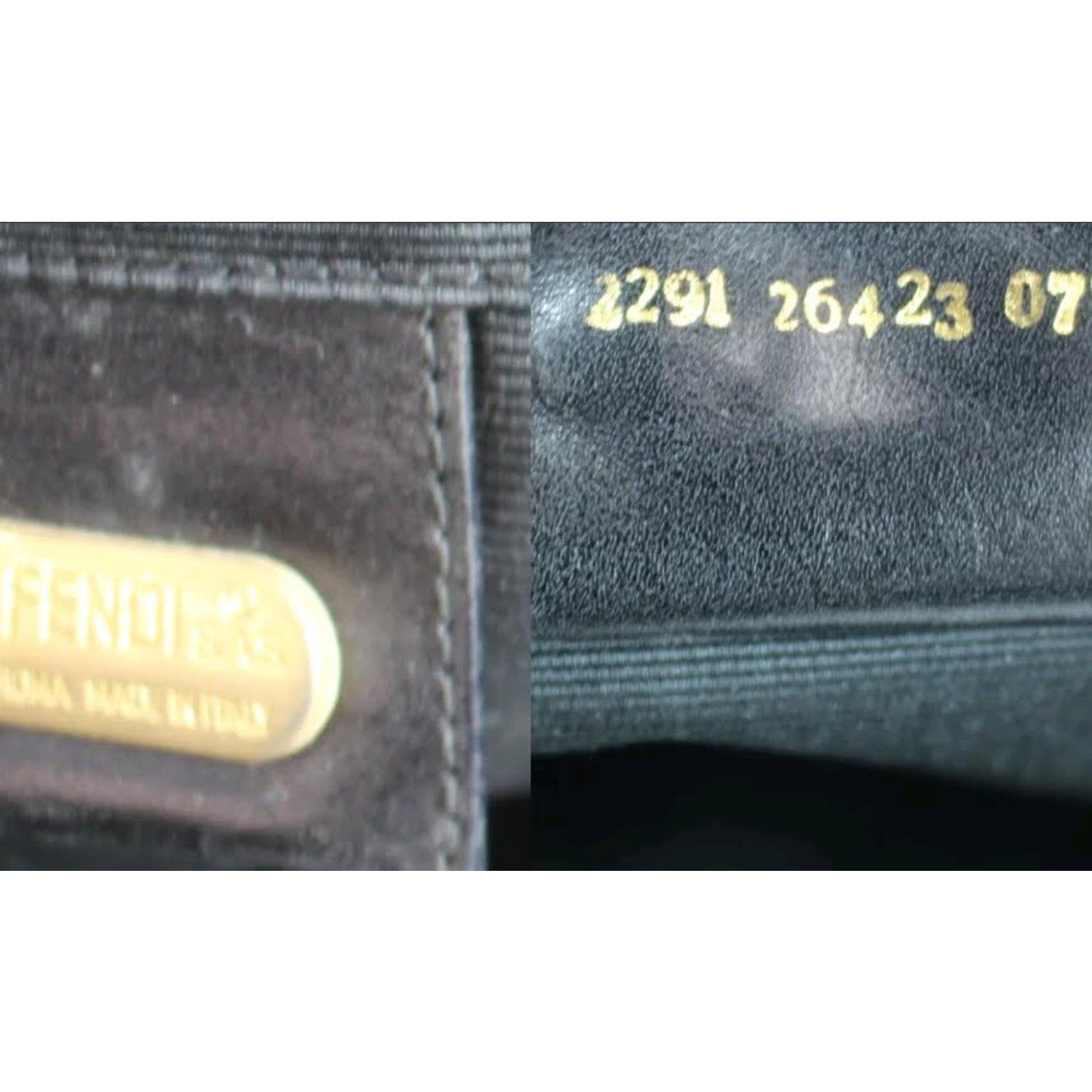 0a0a5ba9ff49 Fendi fendi logo large black tote bag Totes Nylon Black ref.65224 - Joli  Closet